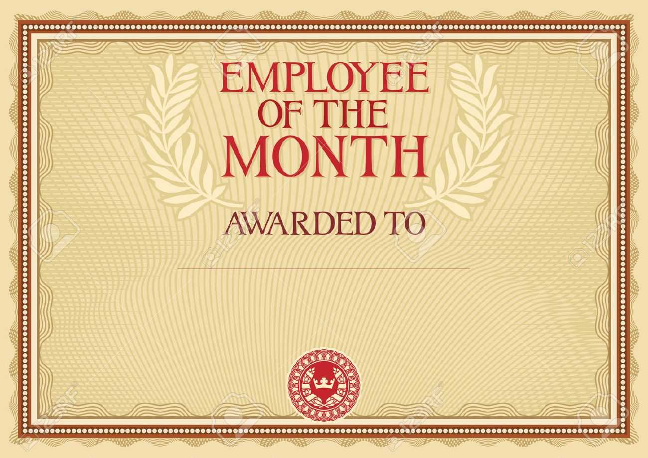 Employee Of The Month - Certificate Template For Manager Of The Month Certificate Template