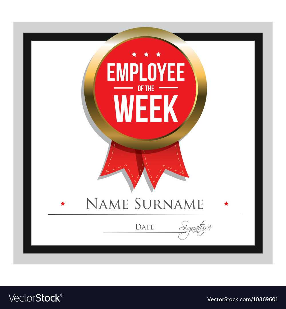 Employee Of The Week Certificate Template With Star Of The Week Certificate Template