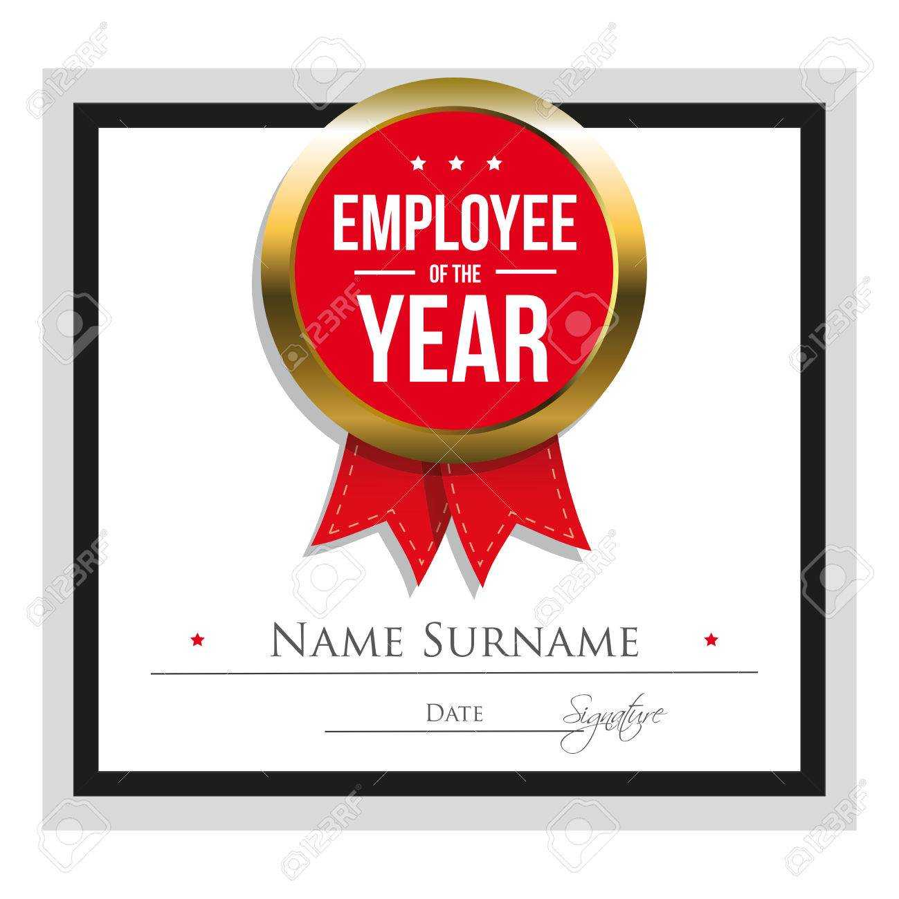 Employee Of The Year Certificate Template With Employee Of The Year Certificate Template Free