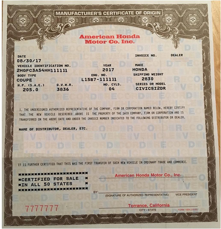 🥰free Printable Certificate Of Origin Form Template [Pdf Within Certificate Of Origin For A Vehicle Template