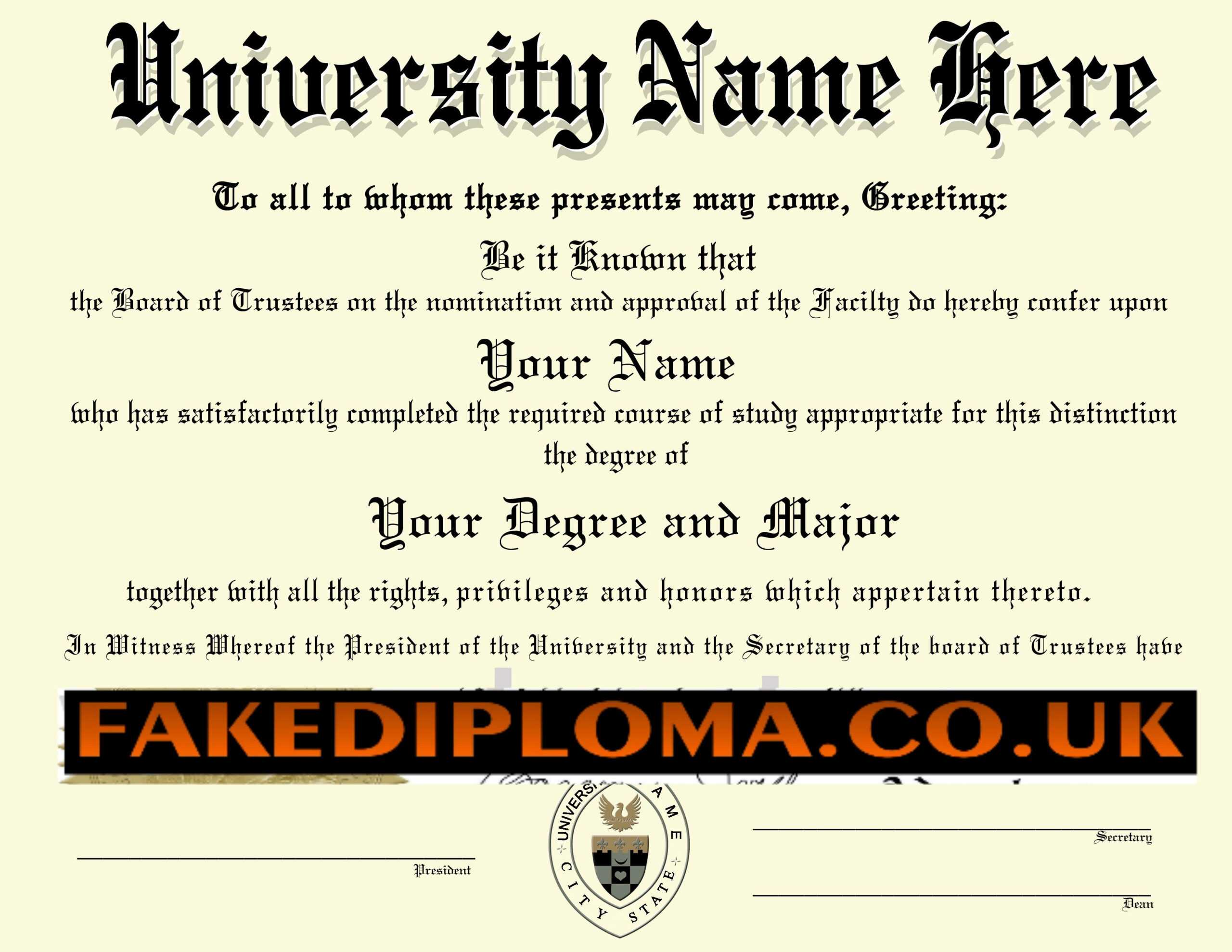 Fake University Degree Generator - Karan.ald2014 With Regard To Fake Diploma Certificate Template