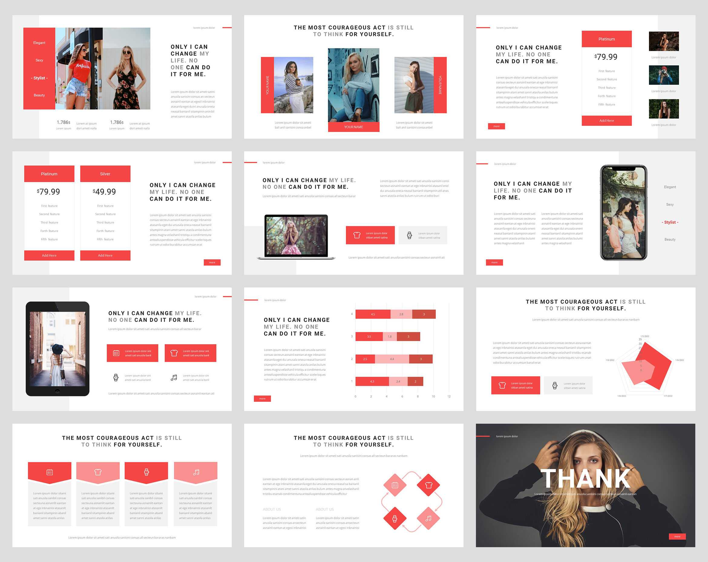 Fancy - Fashion Powerpoint Templatestringlabs Within Fancy Powerpoint Templates