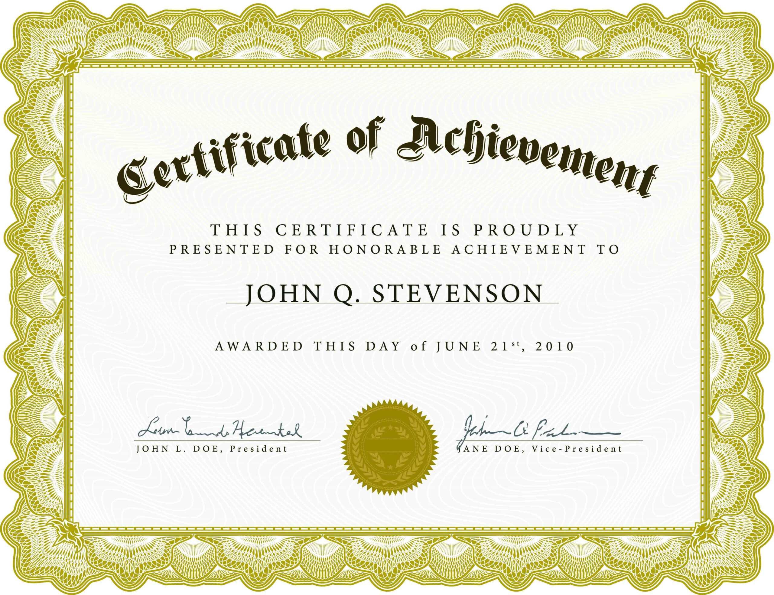 Farewell Certificate Template - Professional Template With Regard To Farewell Certificate Template