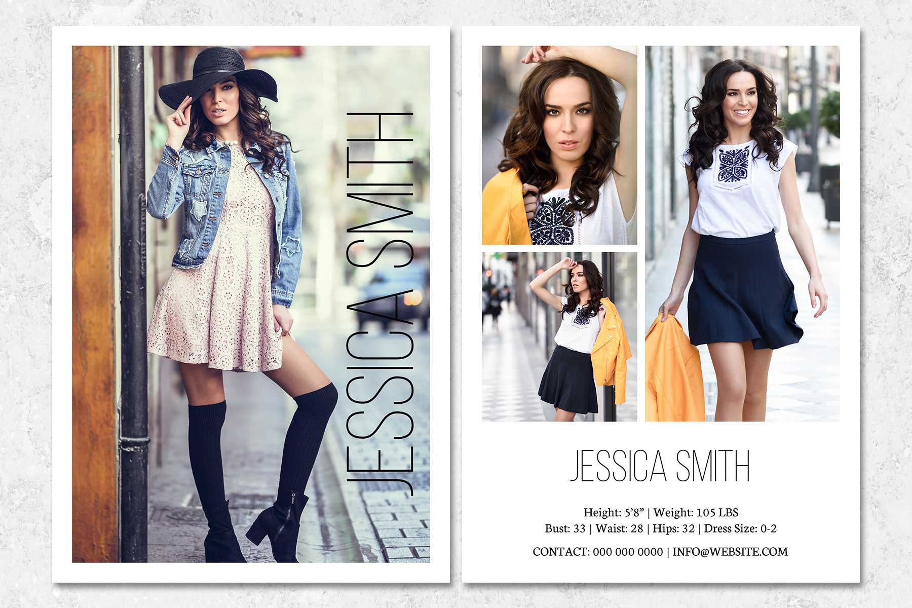 Fashion Model Comp Card Template With Model Comp Card Template Free