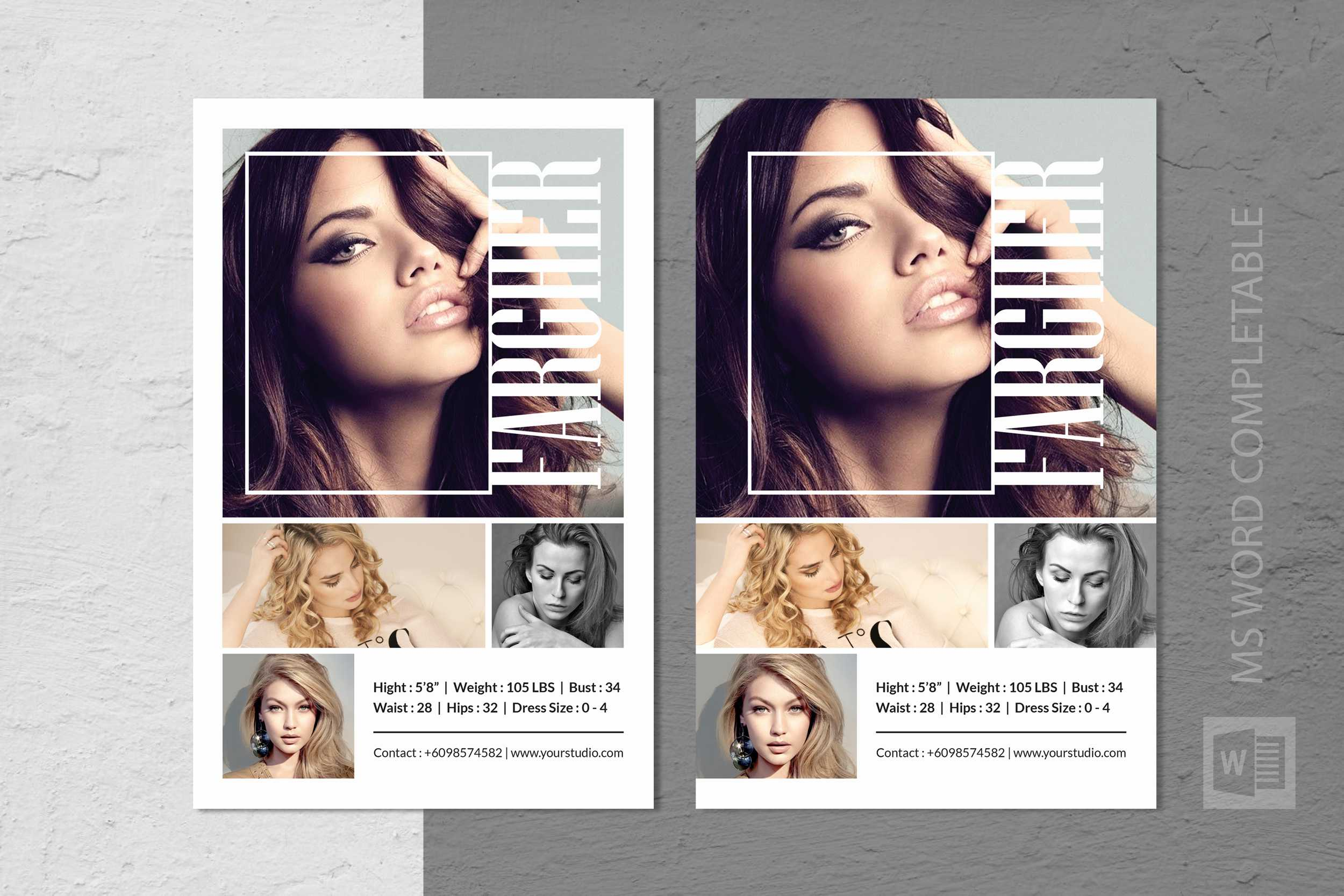 Fashion Modeling Comp Card Template Throughout Comp Card Template Download