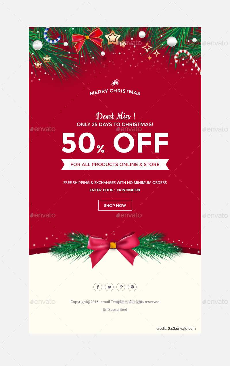 Finding The Right Holiday Greetings Email Template - Mailbird With Holiday Card Email Template
