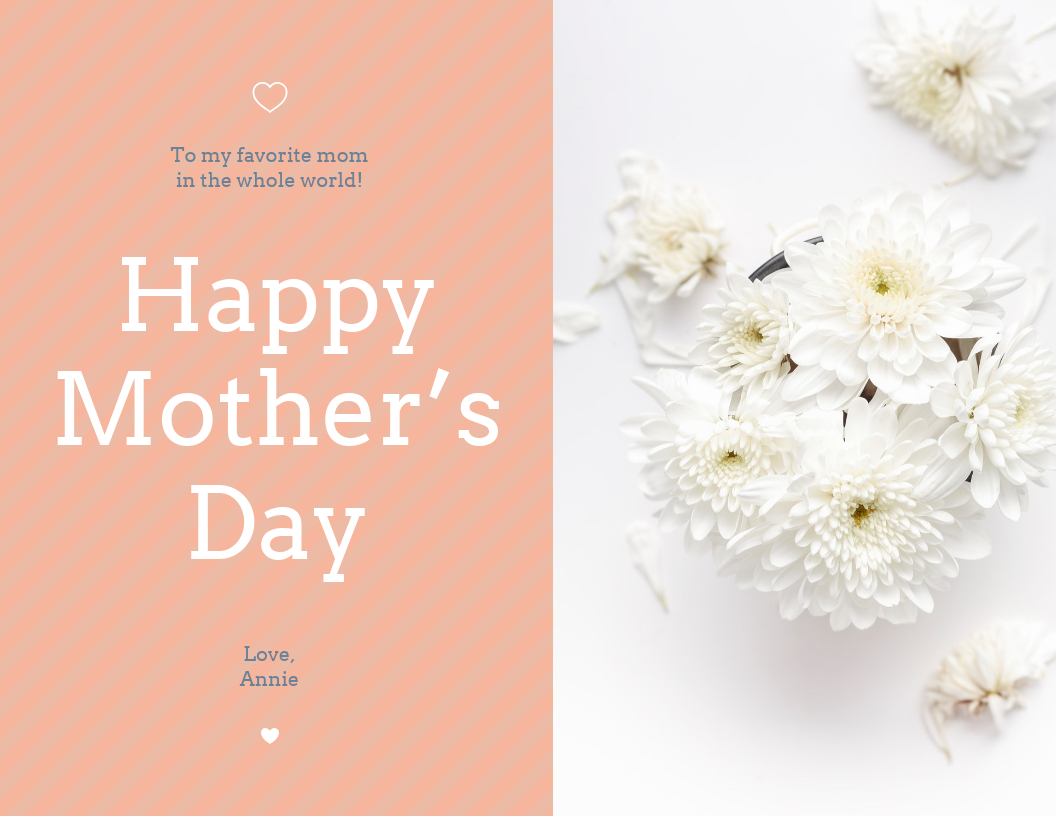 Floral Happy Mother's Day Card Template With Regard To Mothers Day Card Templates