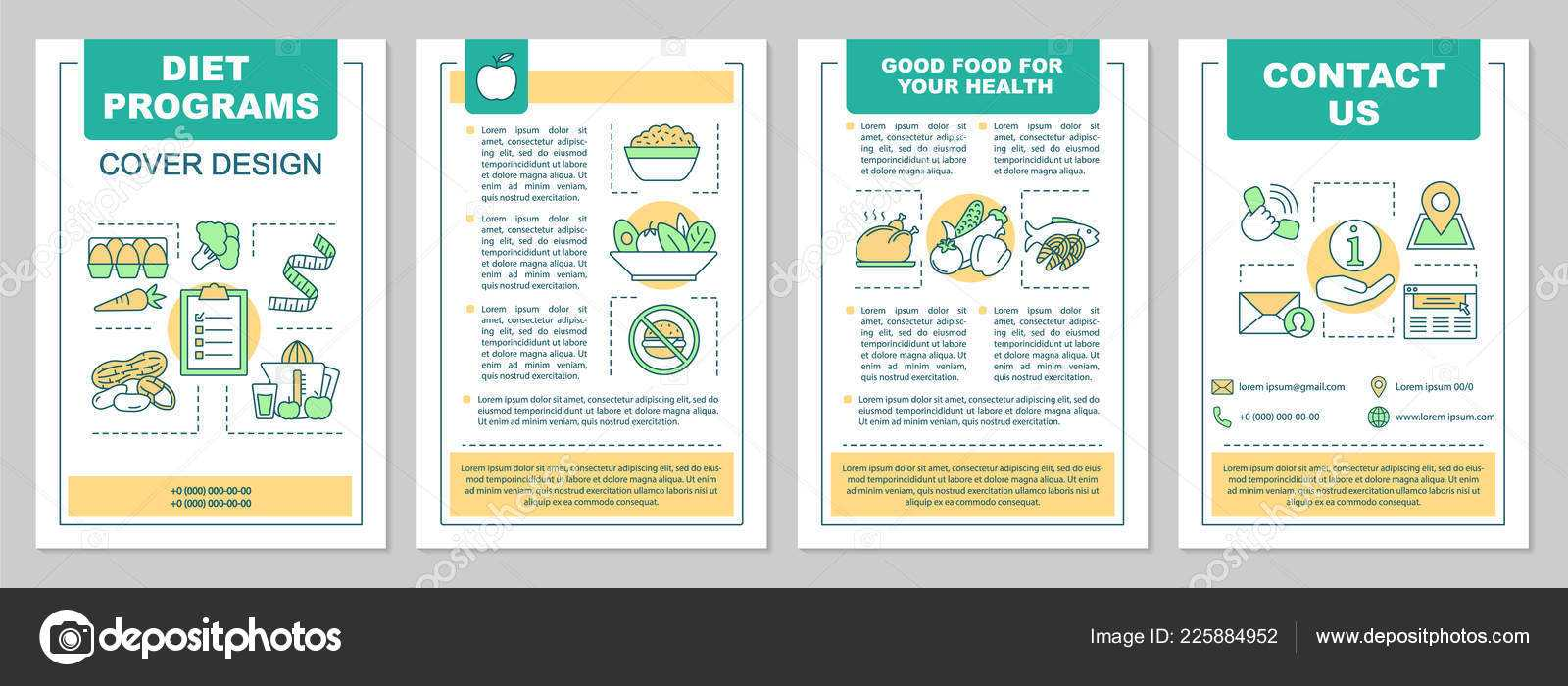 Food Magazine Layout Templates | Healthy Nutrition Brochure Regarding Nutrition Brochure Template