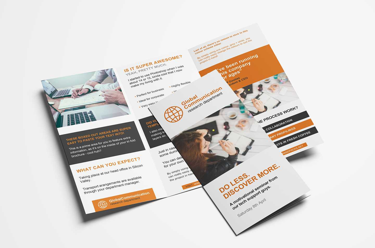Free 3 Fold Brochure Template For Photoshop & Illustrator For 3 Fold Brochure Template Psd Free Download