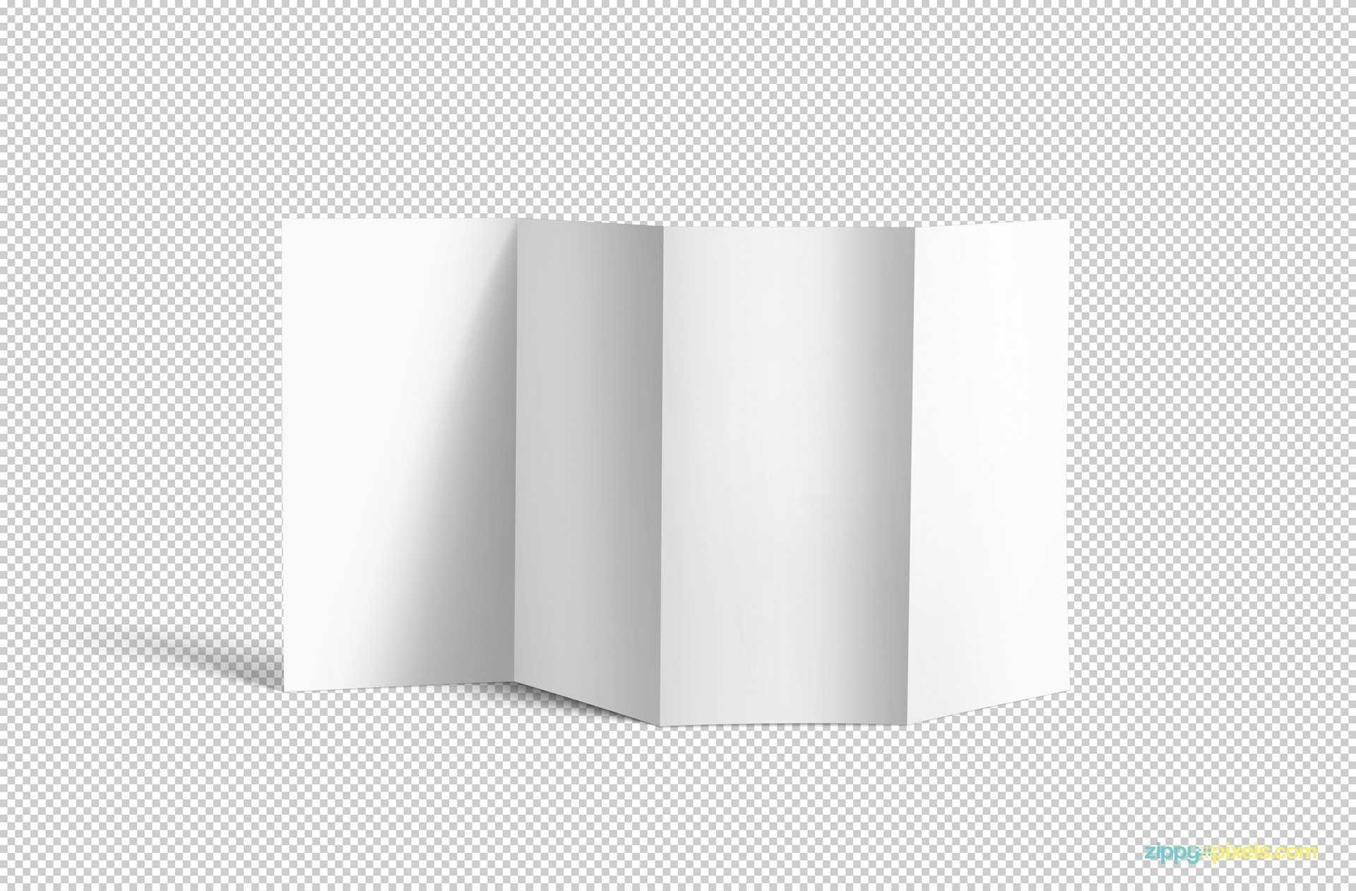 Free 4 Fold Brochure Mockup | Zippypixels Inside 4 Fold Brochure Template Word