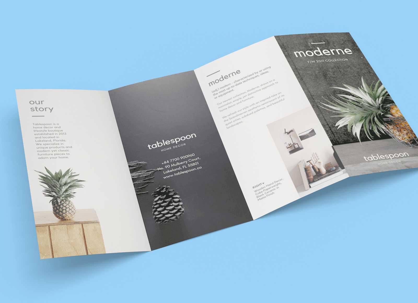 Free 4 Panel Quad Fold Brochure Mockup Psd - Good Mockups Inside 4 Fold Brochure Template