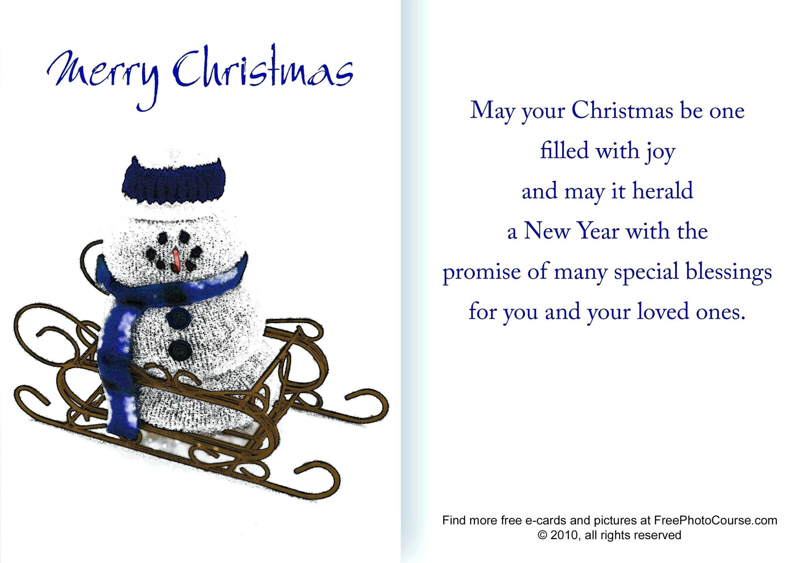 Free And Holiday Cards Pictures Quarter Fold Greeting Card With Regard To Quarter Fold Card Template
