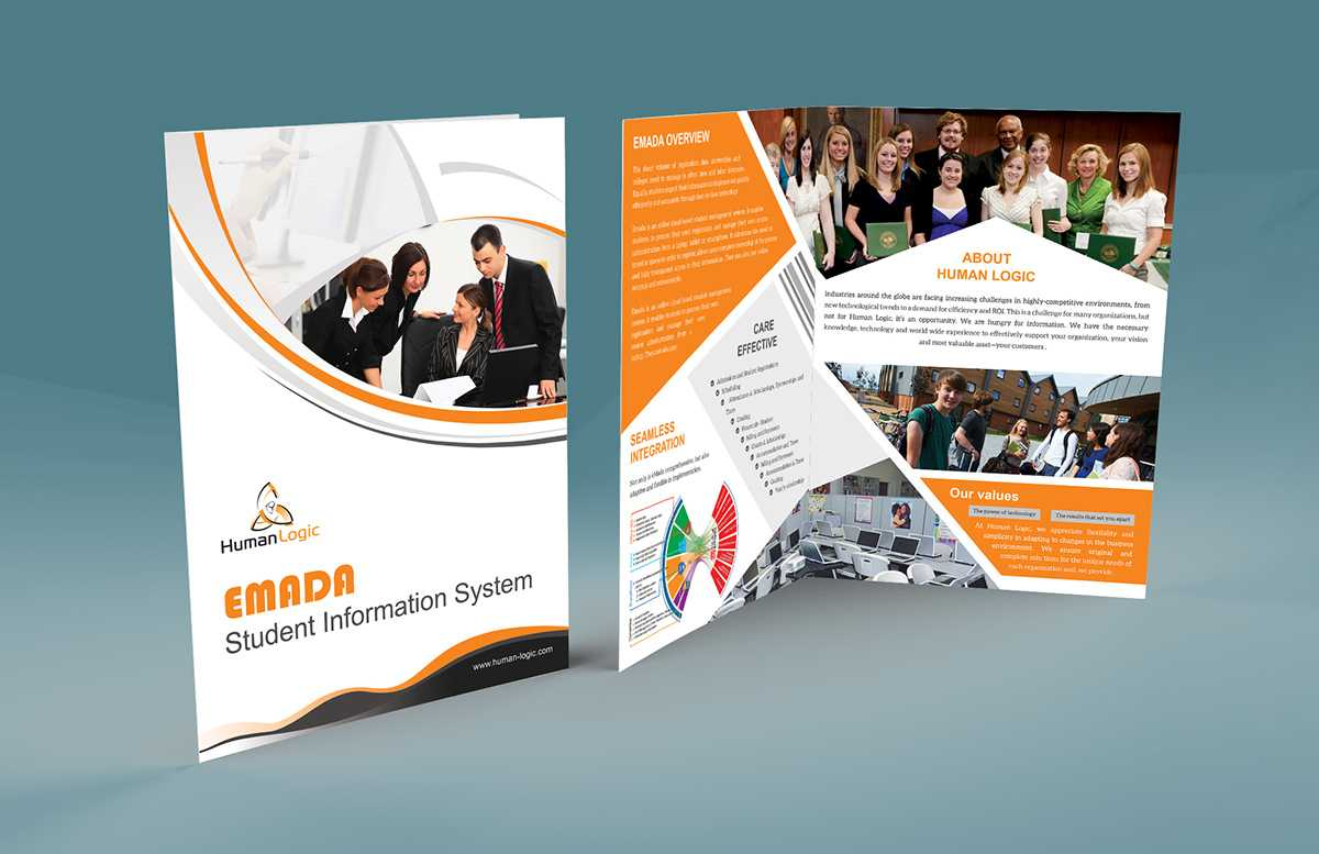 Free Bi Fold Brochure Psd On Behance Inside 2 Fold Brochure Template Psd