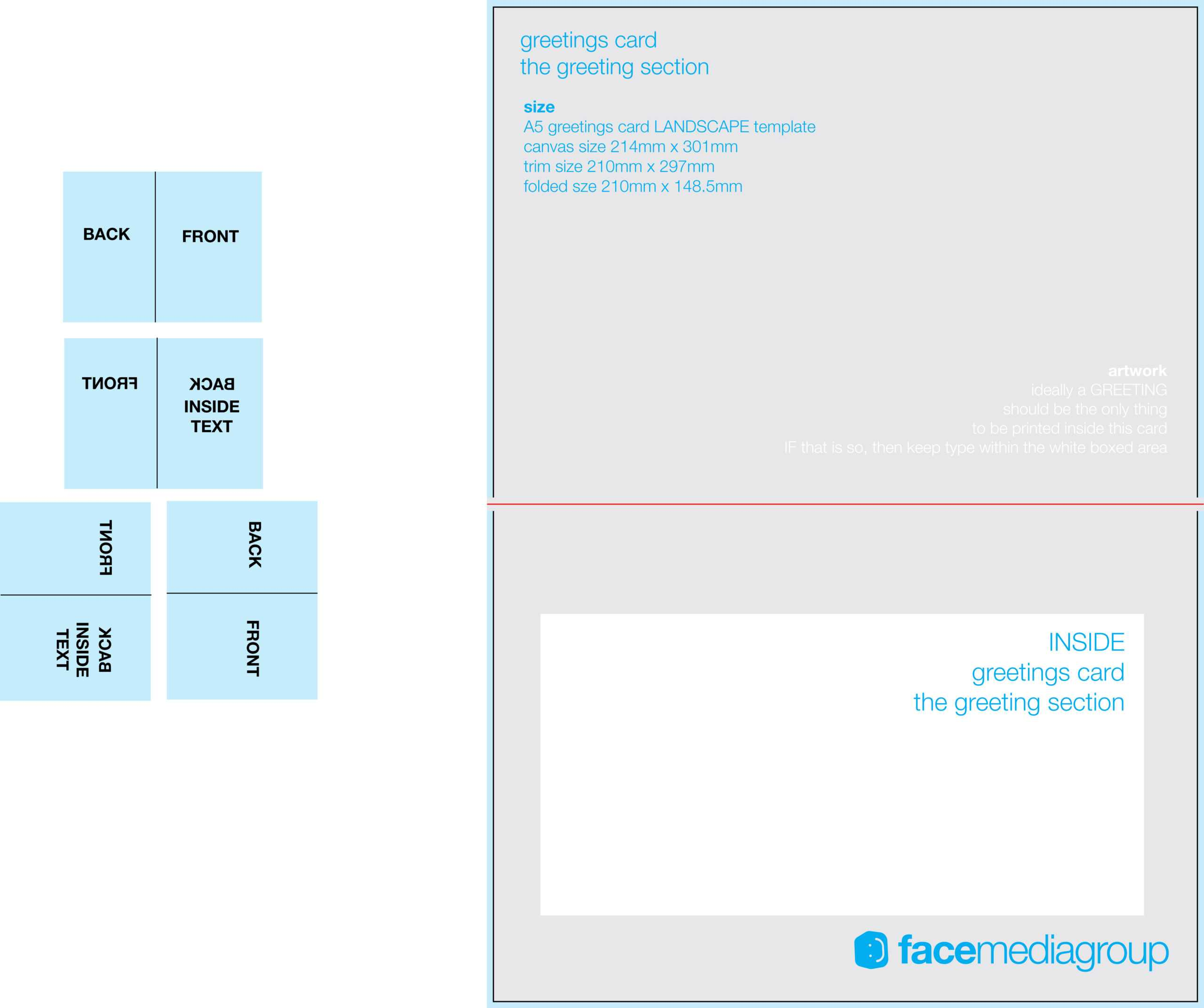 Free Blank Greetings Card Artwork Templates For Download Inside Foldable Card Template Word