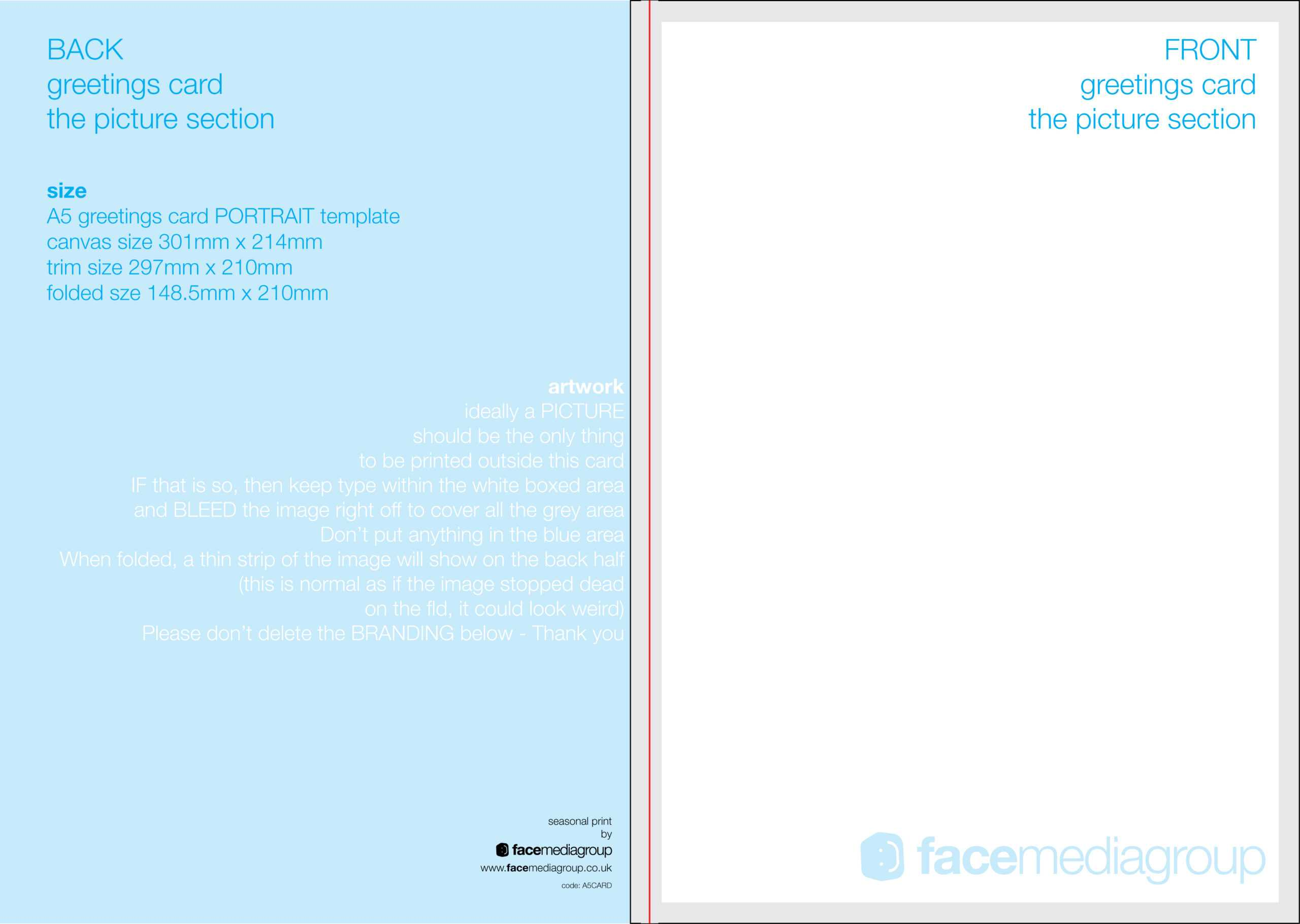 Free Blank Greetings Card Artwork Templates For Download With Regard To Greeting Card Layout Templates
