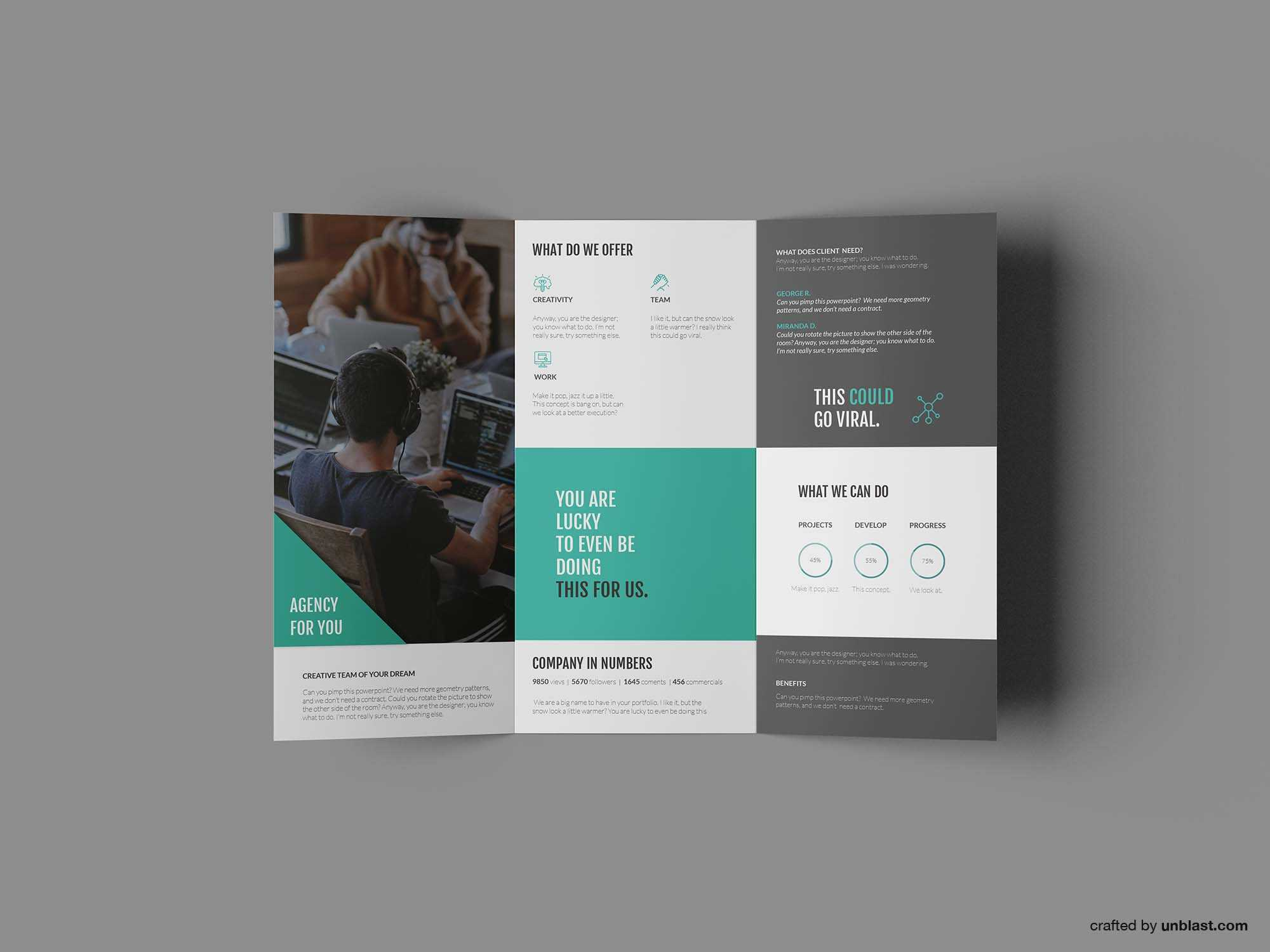 Free Business Trifold Brochure Template (Ai) With Tri Fold Brochure Template Illustrator Free