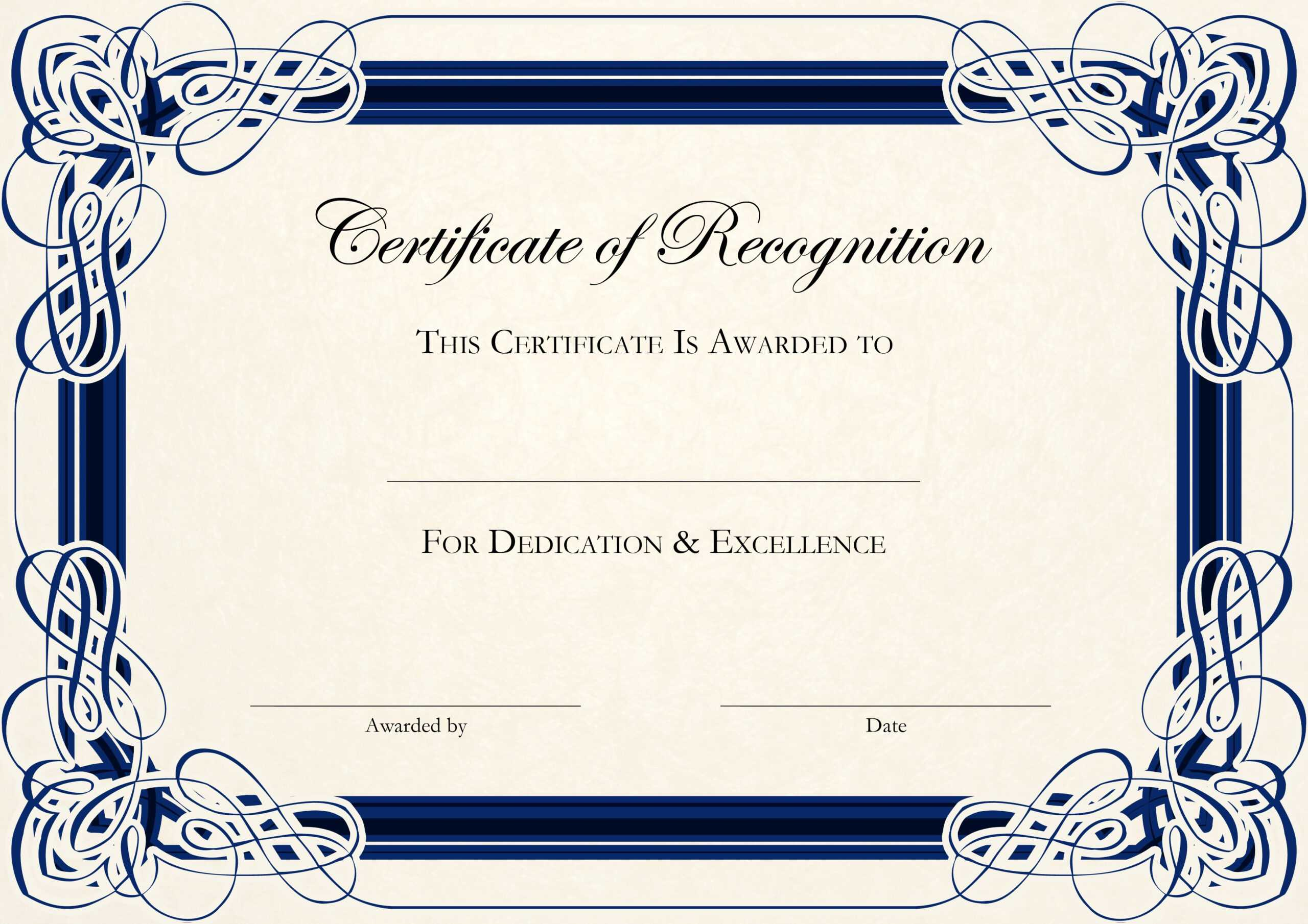 Free Certificate Templates For Word With Certificate Templates For Word Free Downloads