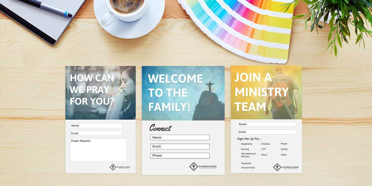 Free Church Connection Cards - Beautiful Psd Templates Inside Church Visitor Card Template Word