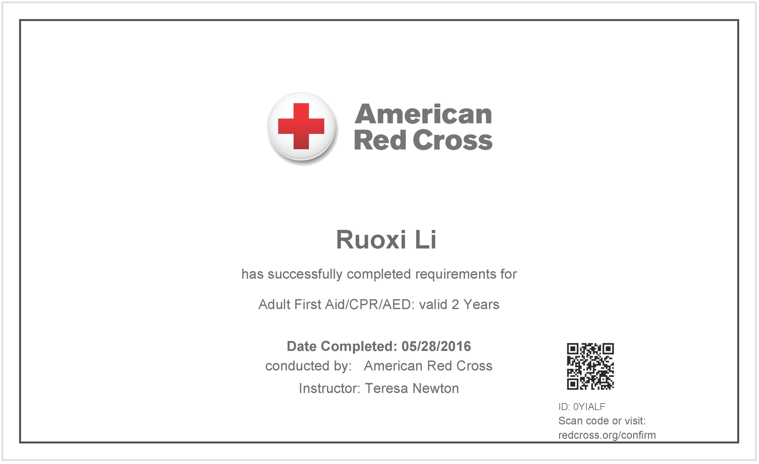 Free Cpr Certification Card First Aid Course Certificate Within Cpr Card Template