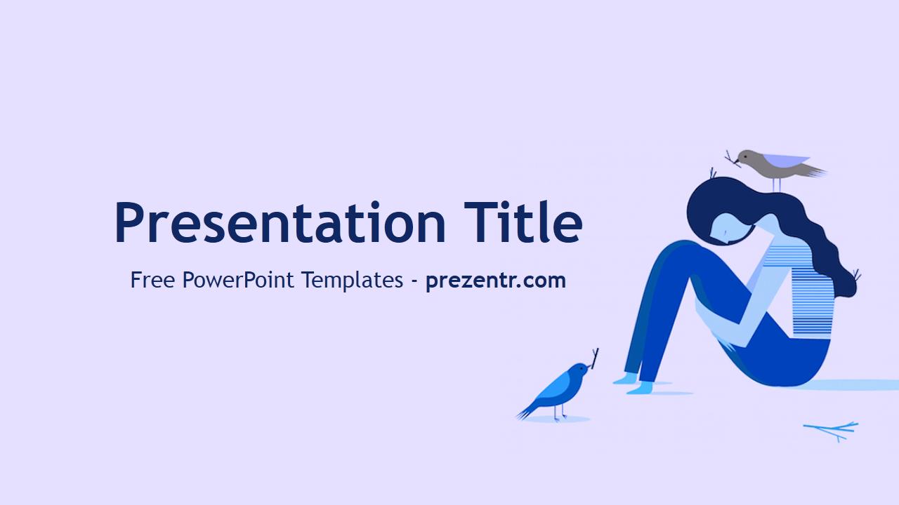 Free Depression Powerpoint Template - Prezentr Powerpoint For Depression Powerpoint Template