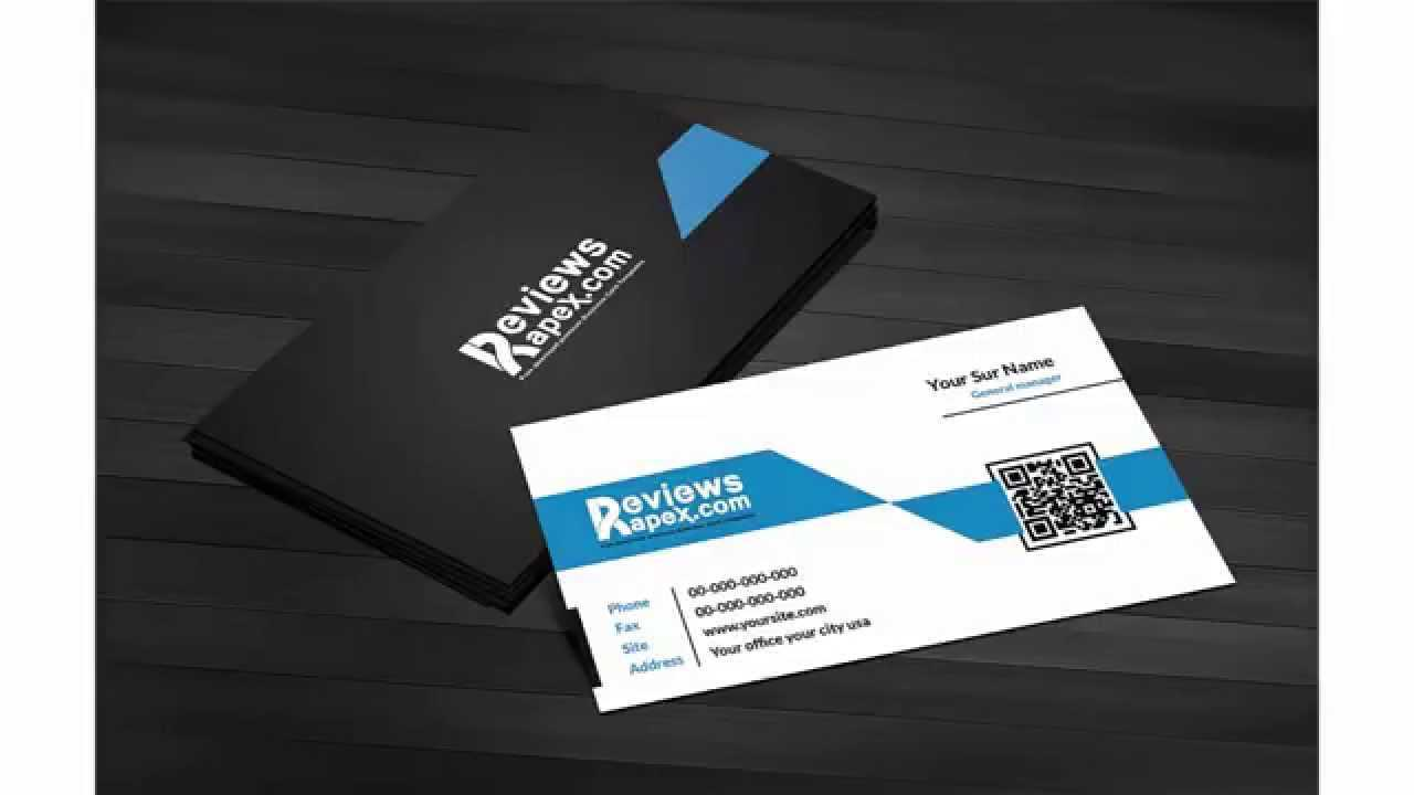Free Download Black & Blue Corporate Business Card Template With Qr Code Throughout Qr Code Business Card Template