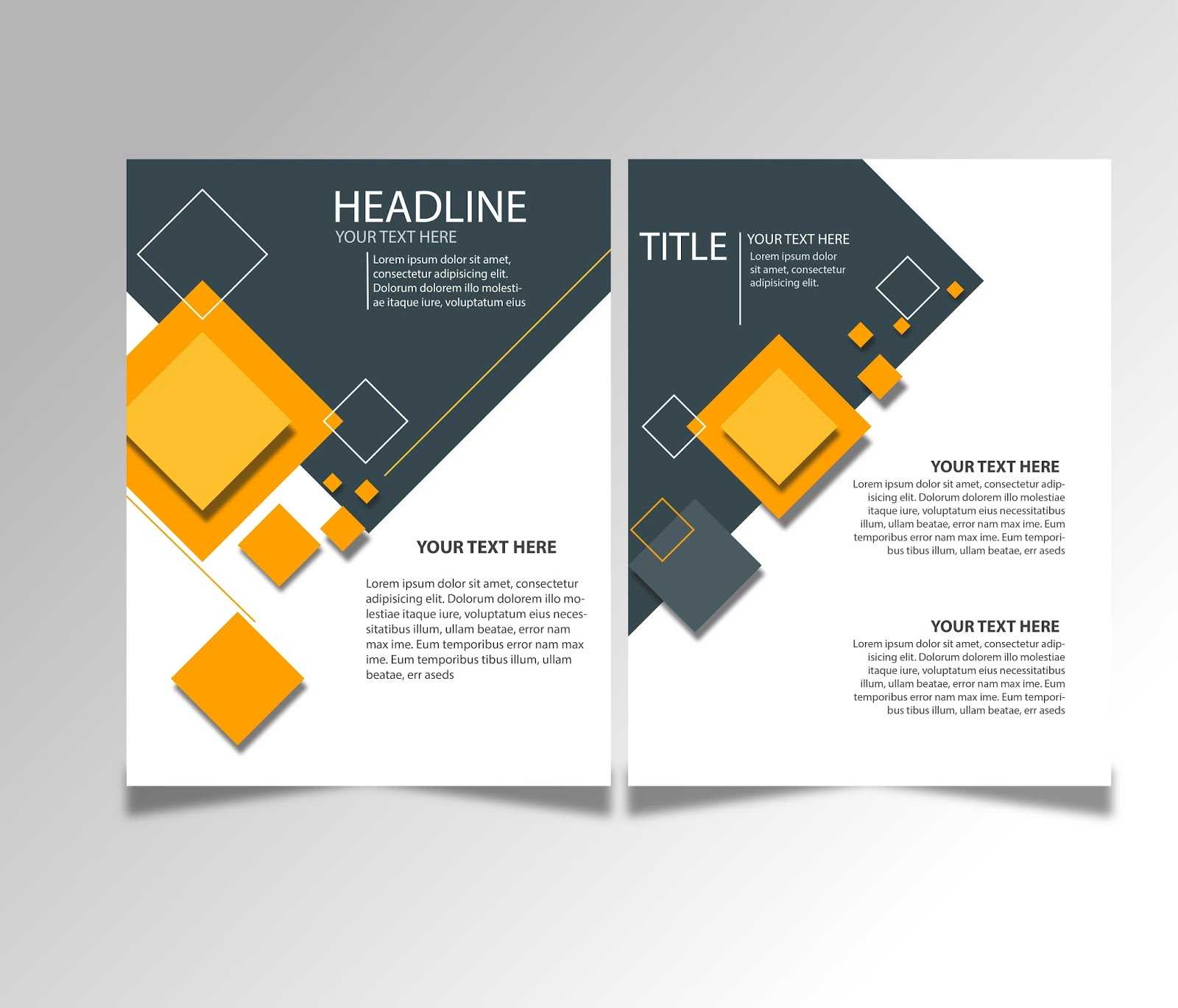 Free Download Brochure Design Templates Ai Files - Ideosprocess In Brochure Template Illustrator Free Download