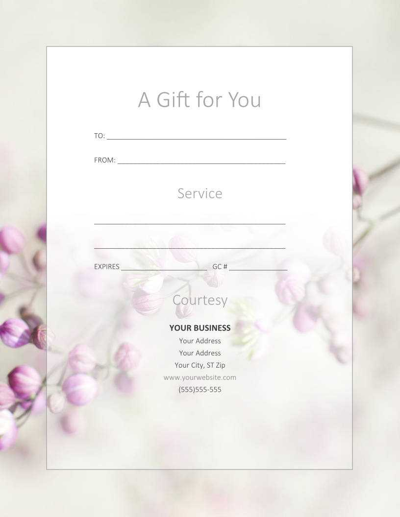Free Gift Certificate Templates For Massage And Spa Within Massage Gift Certificate Template Free Printable