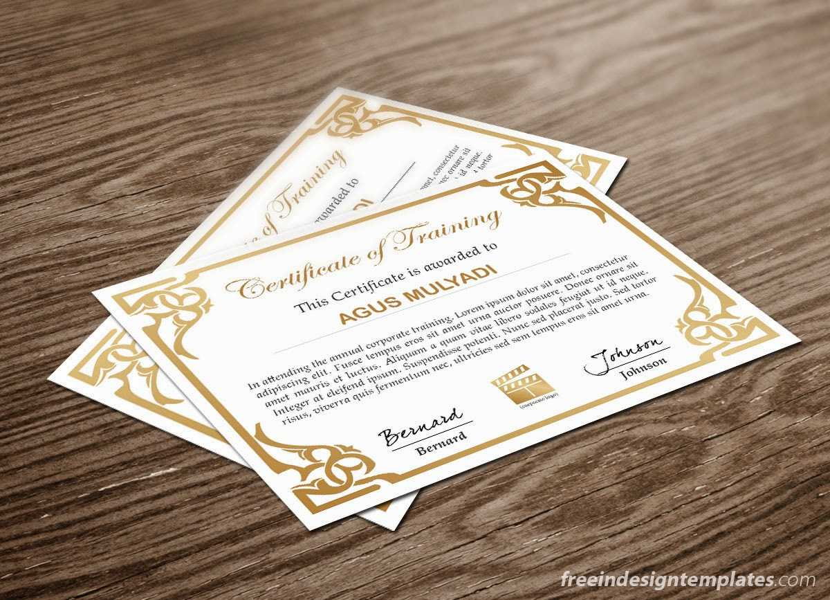 Free Indesign Certificate Template #1 | Free Indesign Intended For Indesign Certificate Template