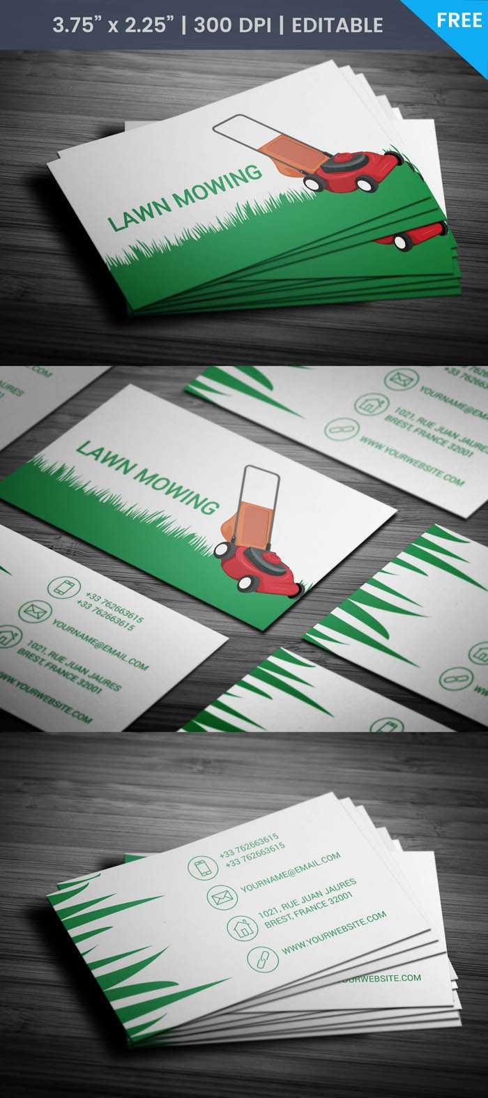 Free Lawn Care Business Card For Lawn Care Business Cards Templates Free