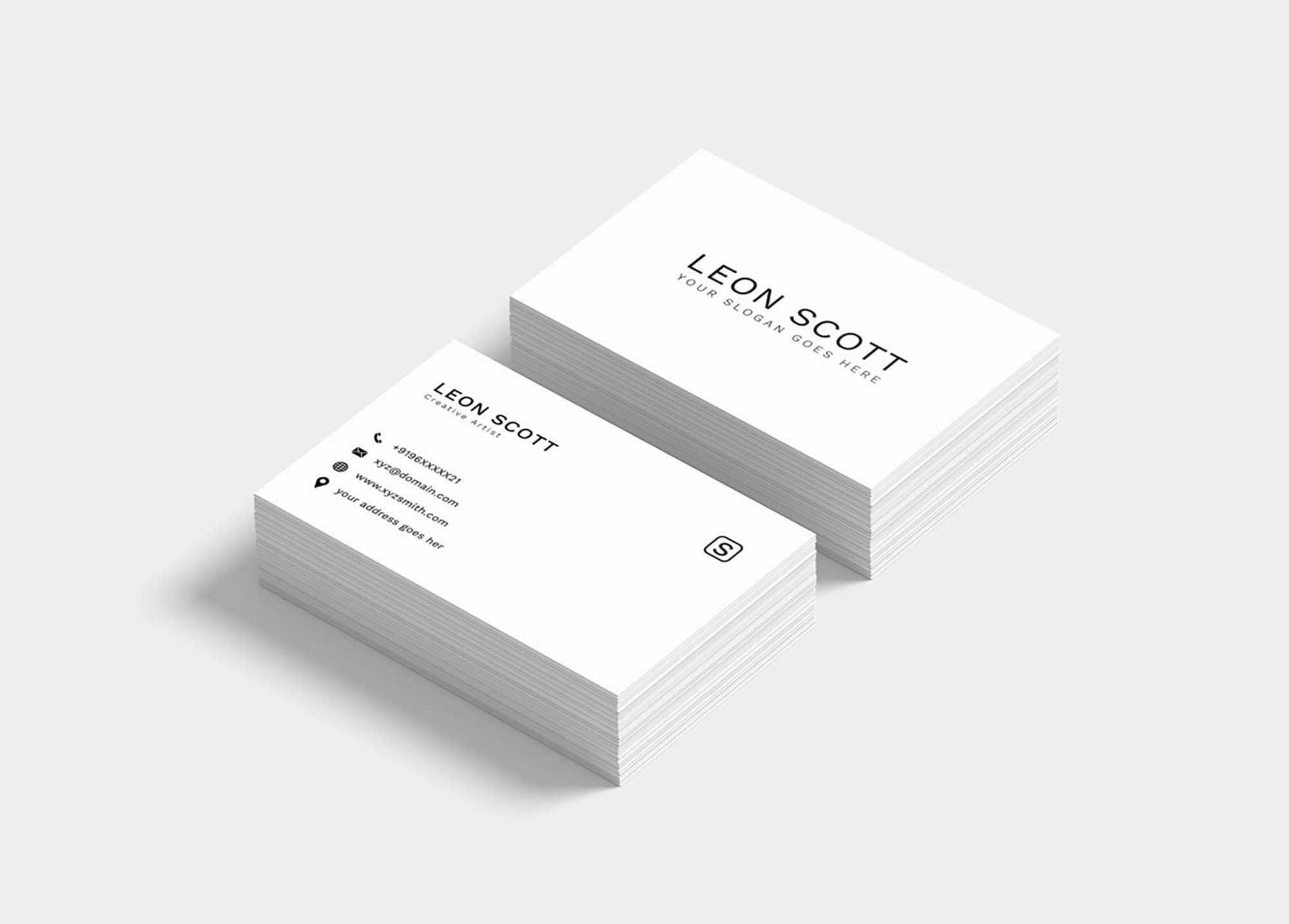Free Minimal Elegant Business Card Template (Psd) Inside Name Card Template Photoshop