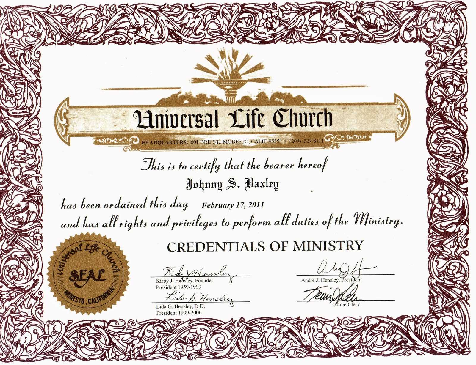 Free Ordination Certificate Download - Karati.ald2014 For Free Ordination Certificate Template