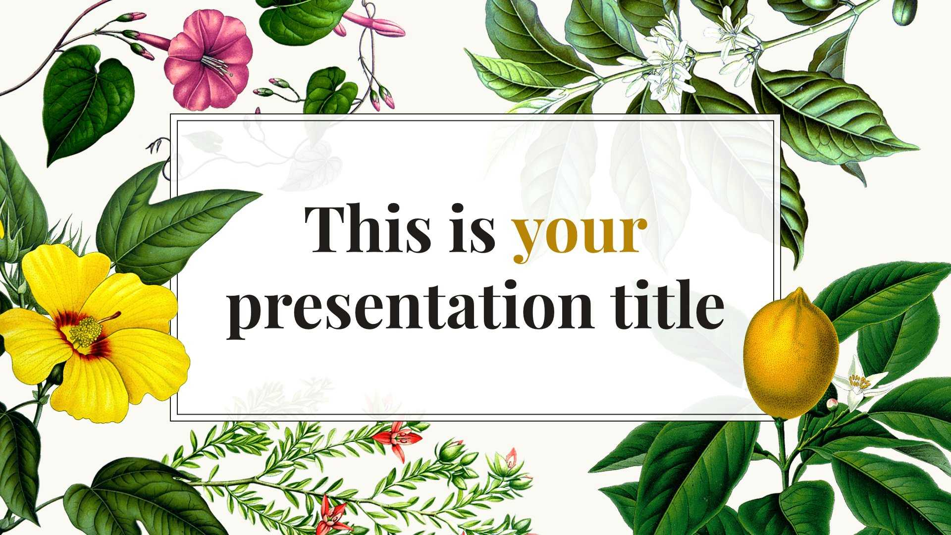 Free Original Powerpoint Template Or Google Slides Theme Regarding Pretty Powerpoint Templates