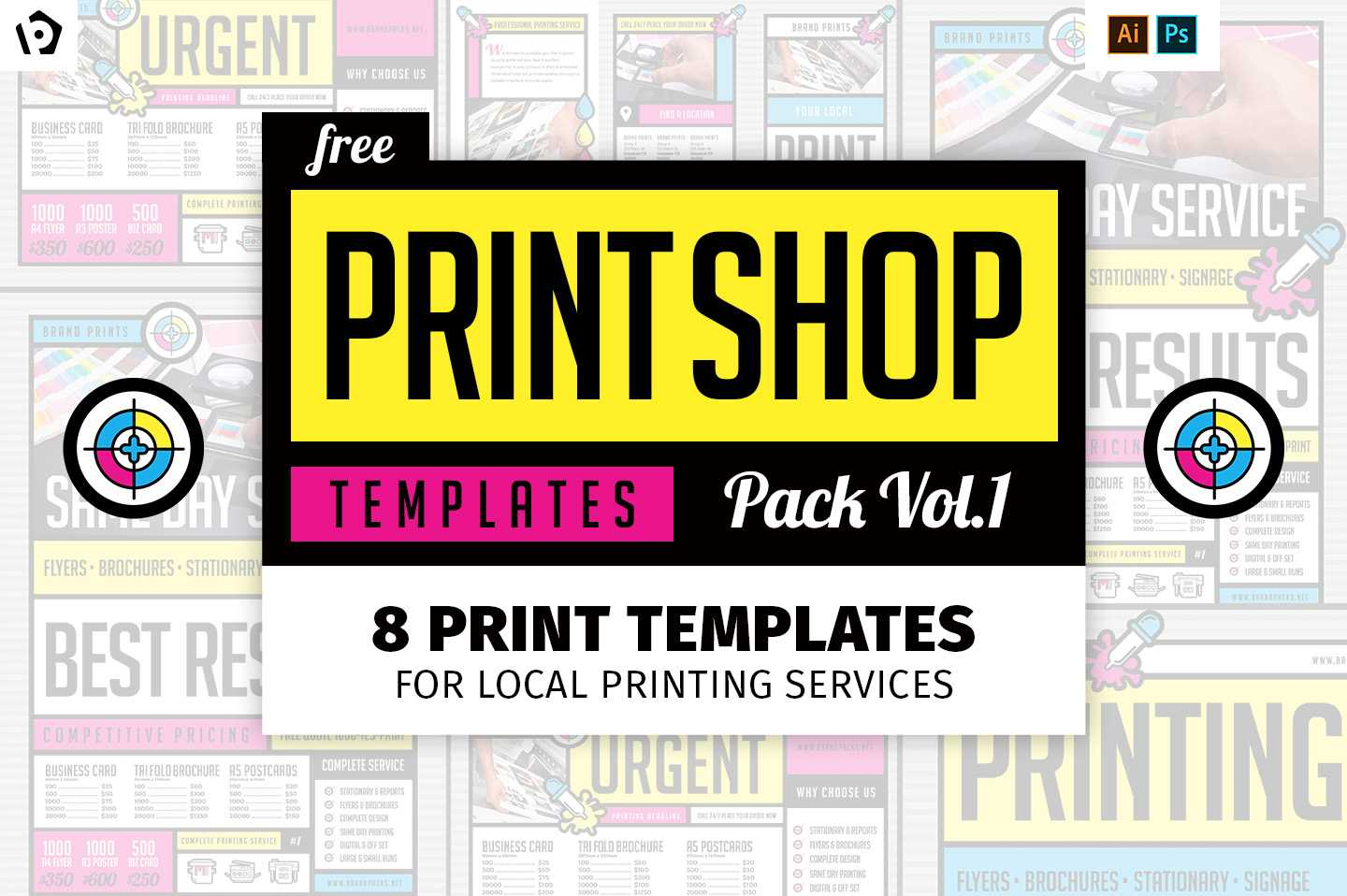 Free Print Shop Templates For Local Printing Services With Template For Cards To Print Free