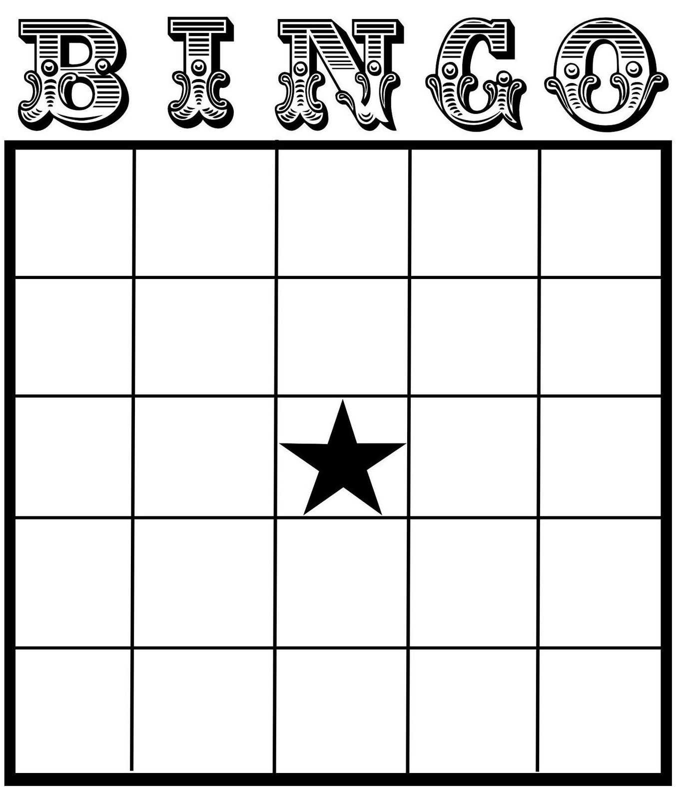 Free Printable Bingo Card Template - Set Your Plan & Tasks With Regard To Blank Bingo Card Template Microsoft Word