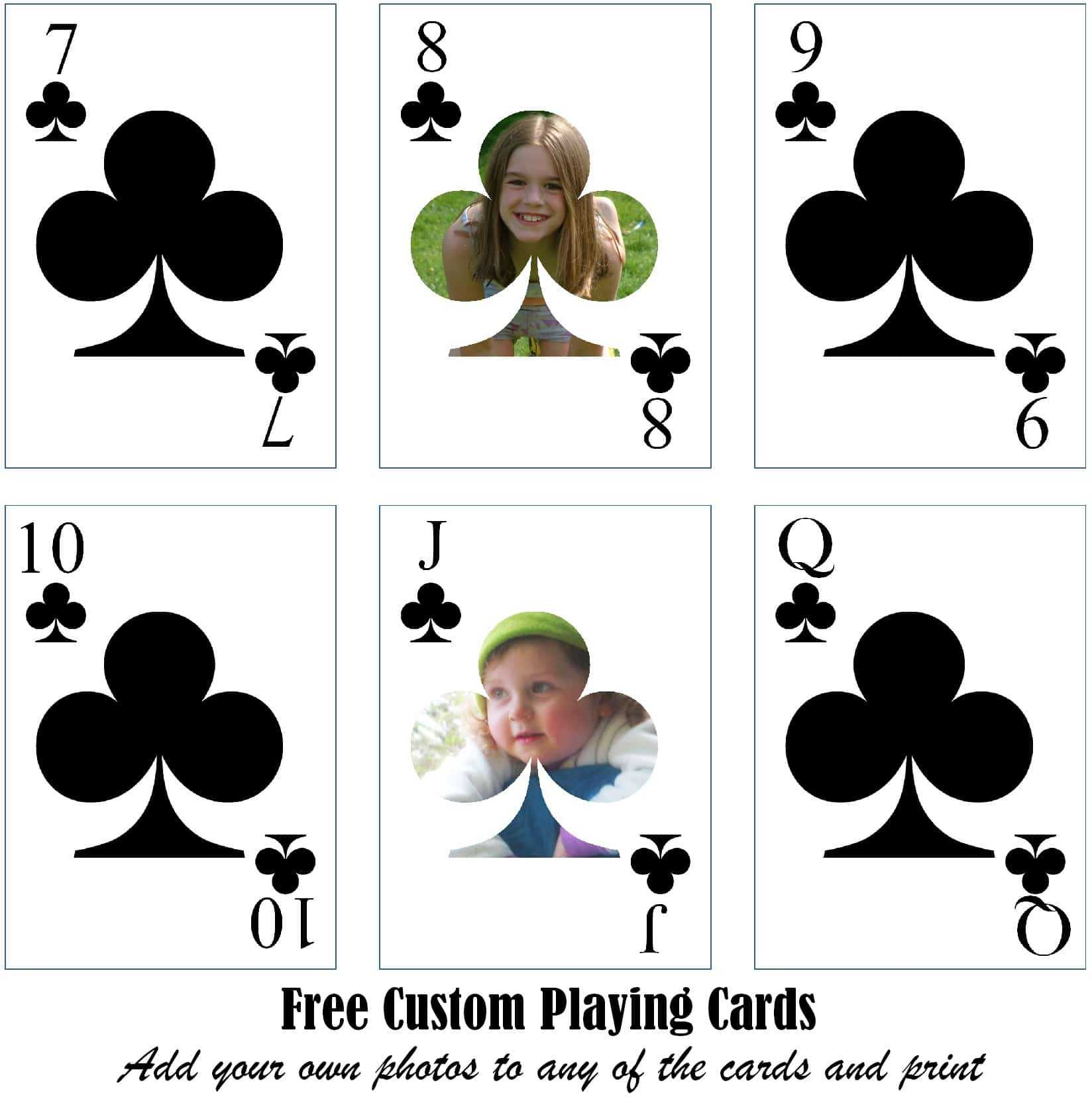 Free Printable Custom Playing Cards | Add Your Photo And/or Text With Regard To Custom Playing Card Template