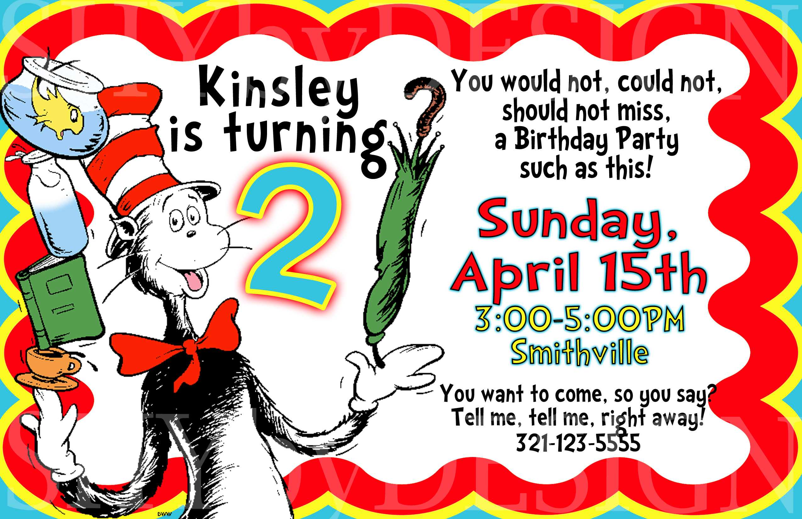 Free Printable Dr Seuss Birthday Invitations     Dolanpedia Regarding Dr Seuss Birthday Card Template