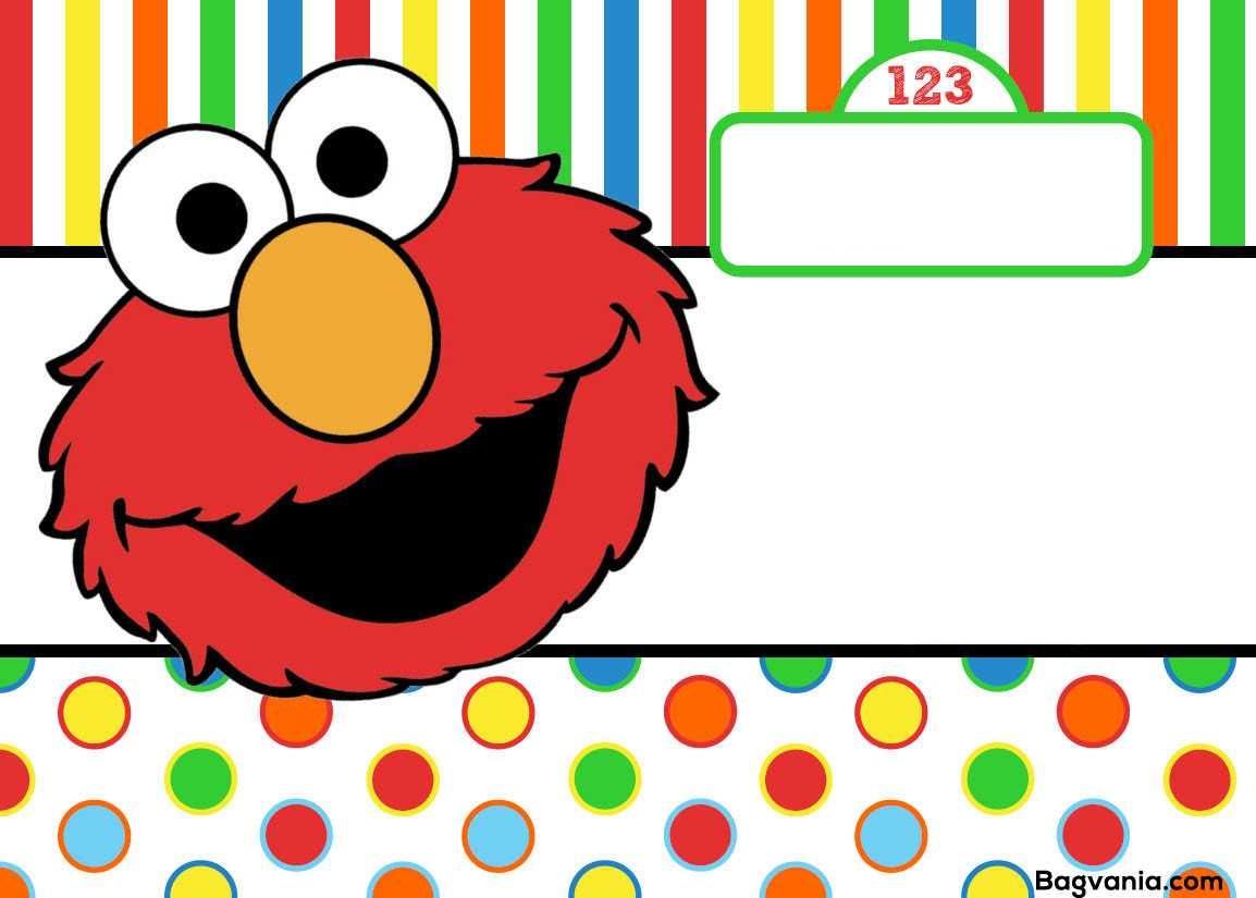 Free Printable Elmo Birthday Invitations – Bagvania With Regard To Elmo Birthday Card Template