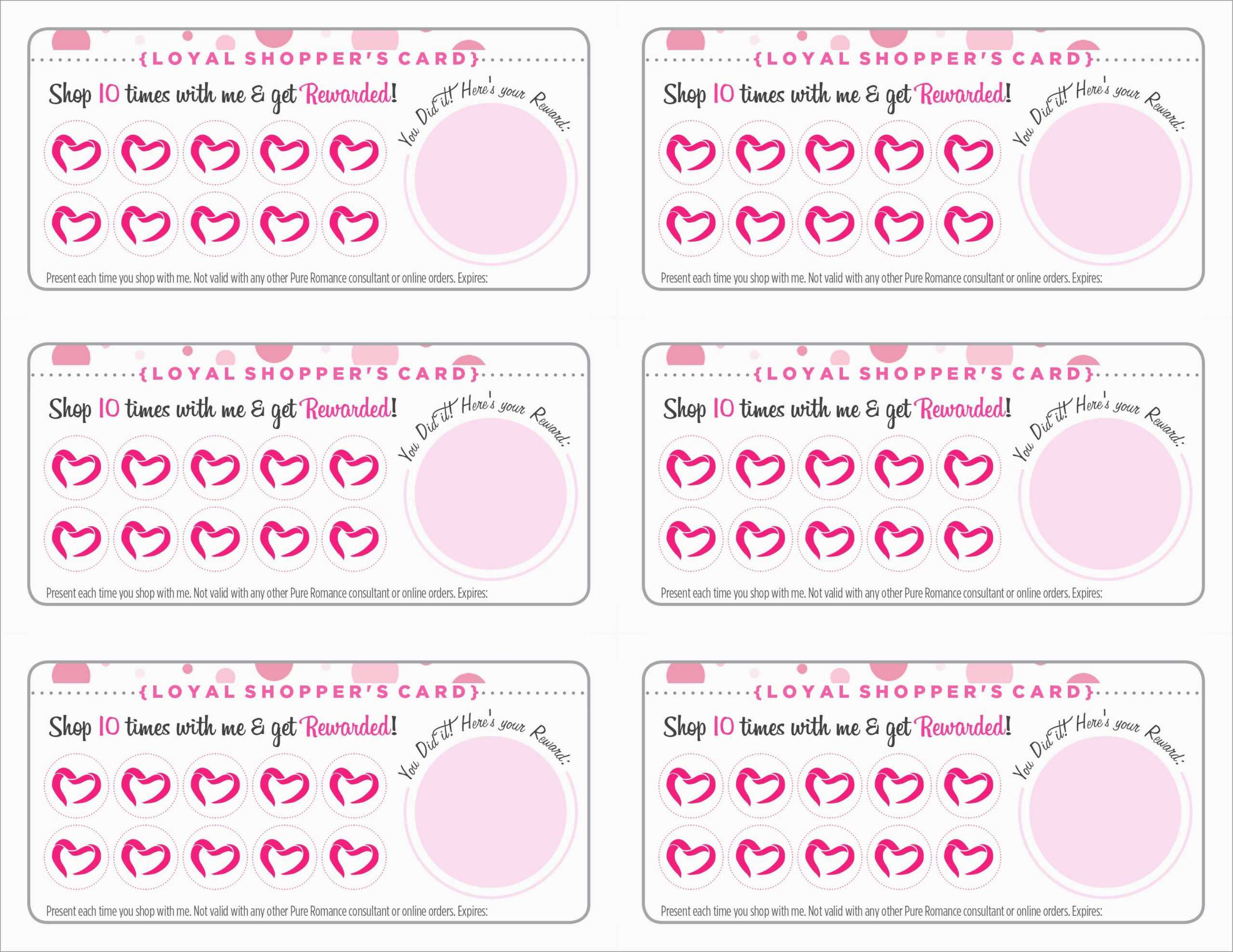 Free Printable Loyalty Card Template - Karati.ald2014 For Free Printable Punch Card Template