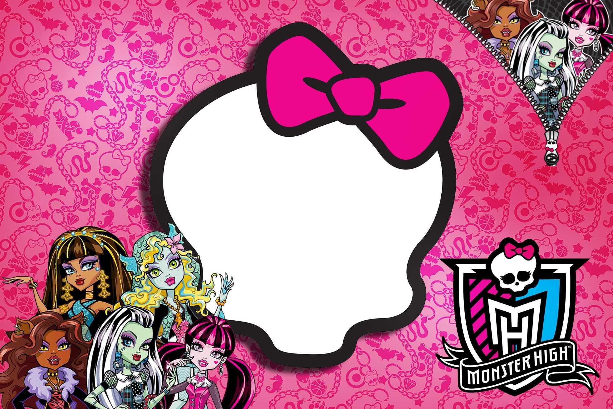 Free Printable Monster High Birthday Invitations Layout Regarding Monster High Birthday Card Template