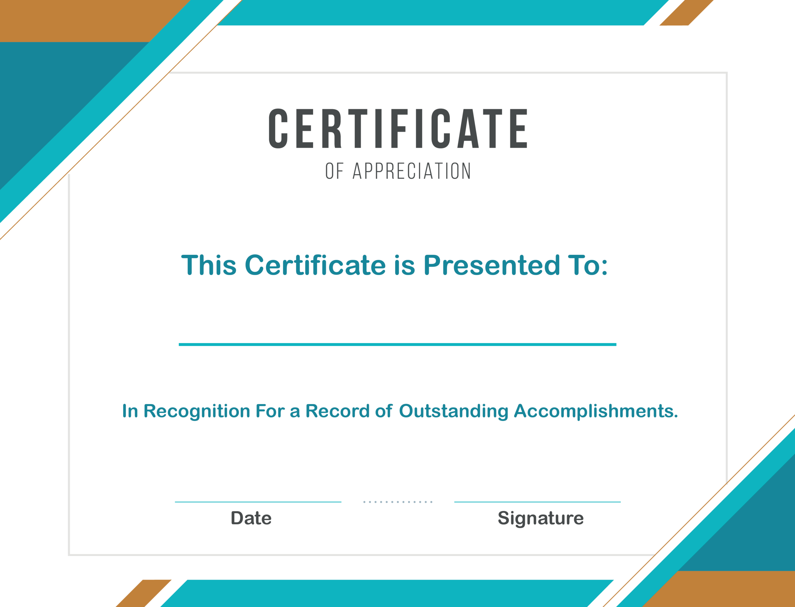 Free Sample Format Of Certificate Of Appreciation Template In Certificate Of Recognition Word Template