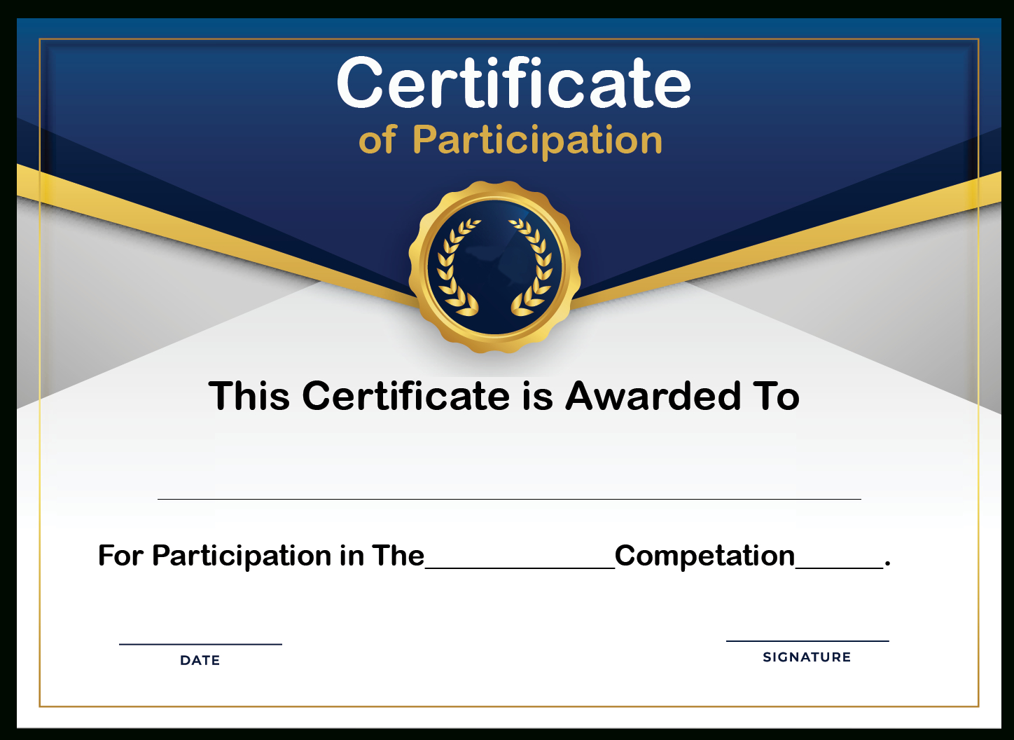 Free Sample Format Of Certificate Of Participation Template Inside Certificate Of Participation Template Doc