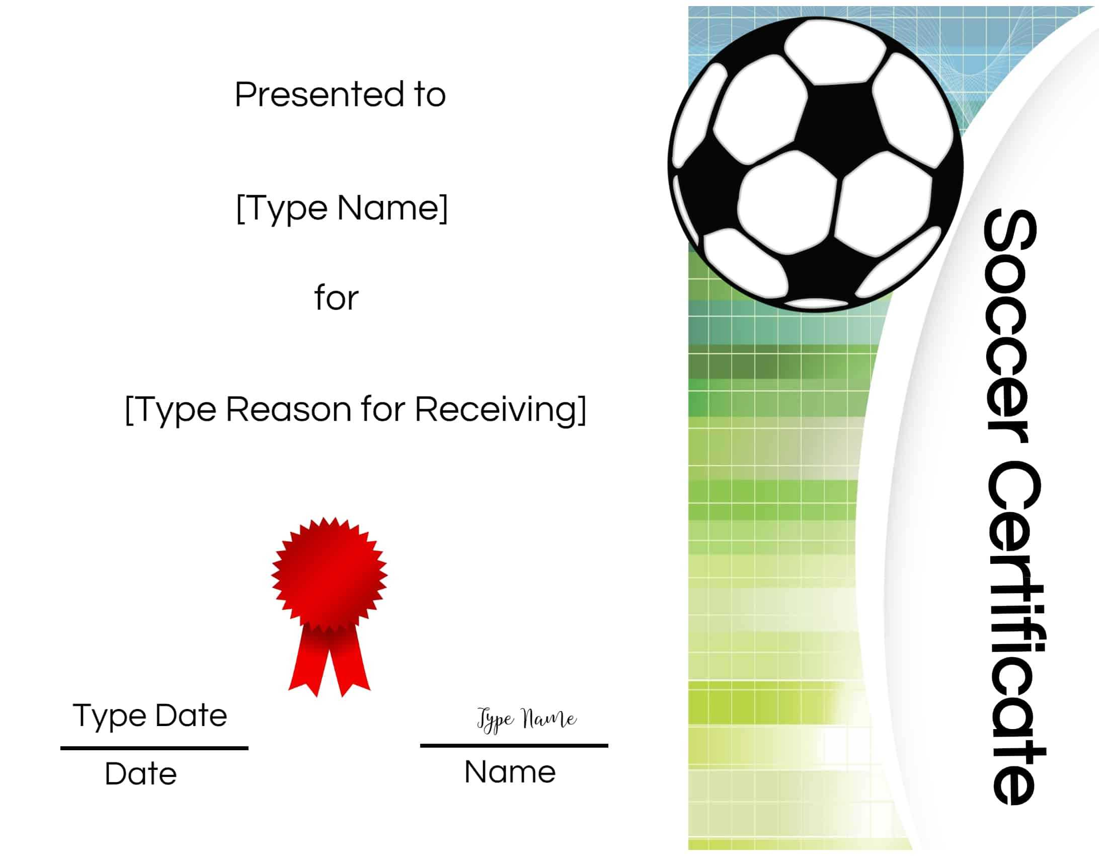 Free Soccer Certificate Maker | Edit Online And Print At Home With Regard To Soccer Award Certificate Template