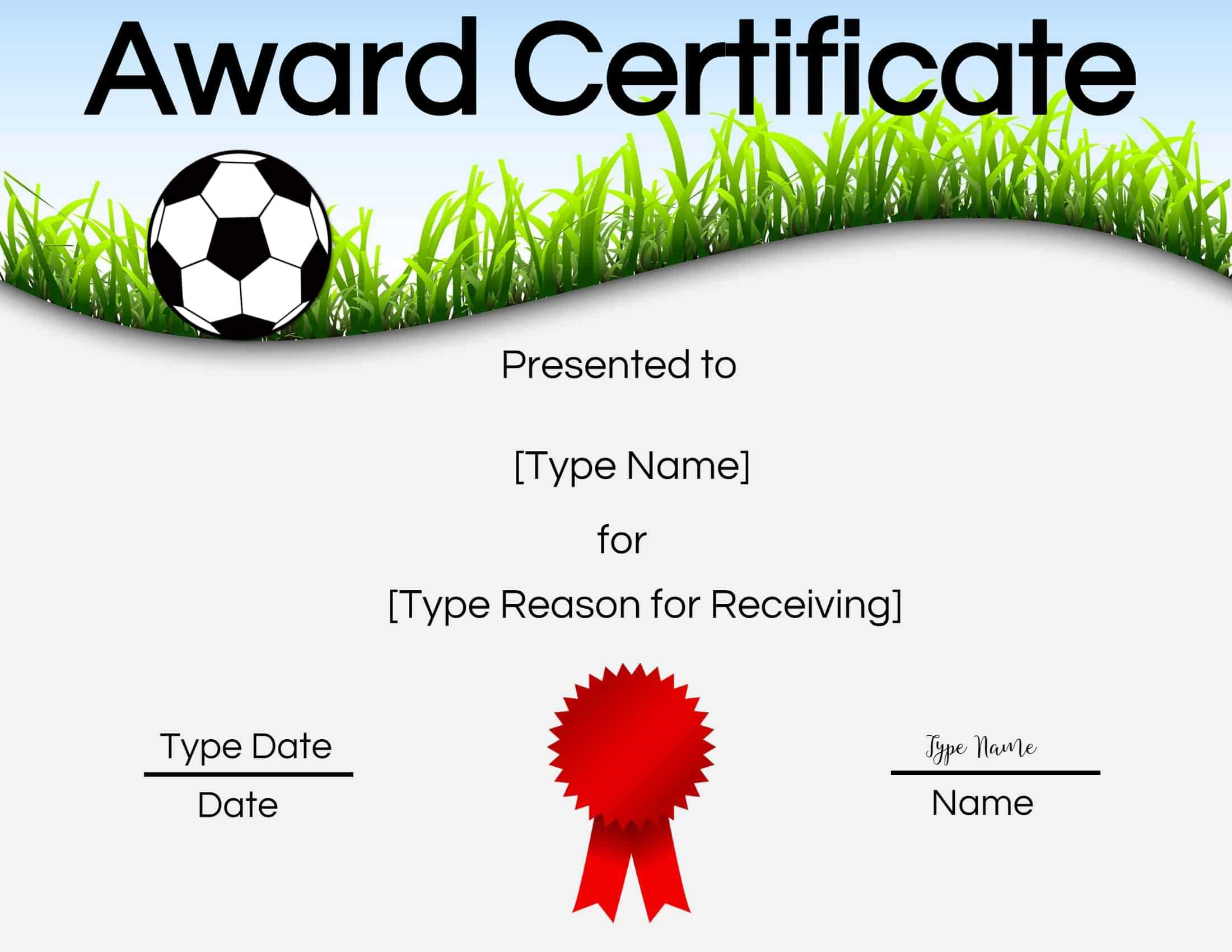 Free Soccer Certificate Maker | Edit Online And Print At Home With Regard To Soccer Certificate Templates For Word