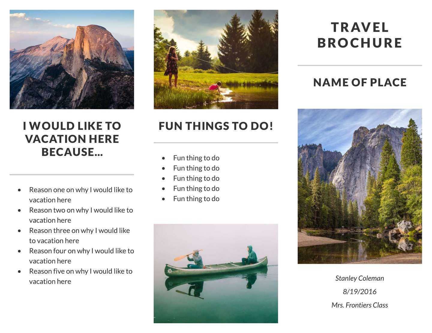 Free Travel Brochure Templates & Examples [8 Free Templates] Regarding Island Brochure Template