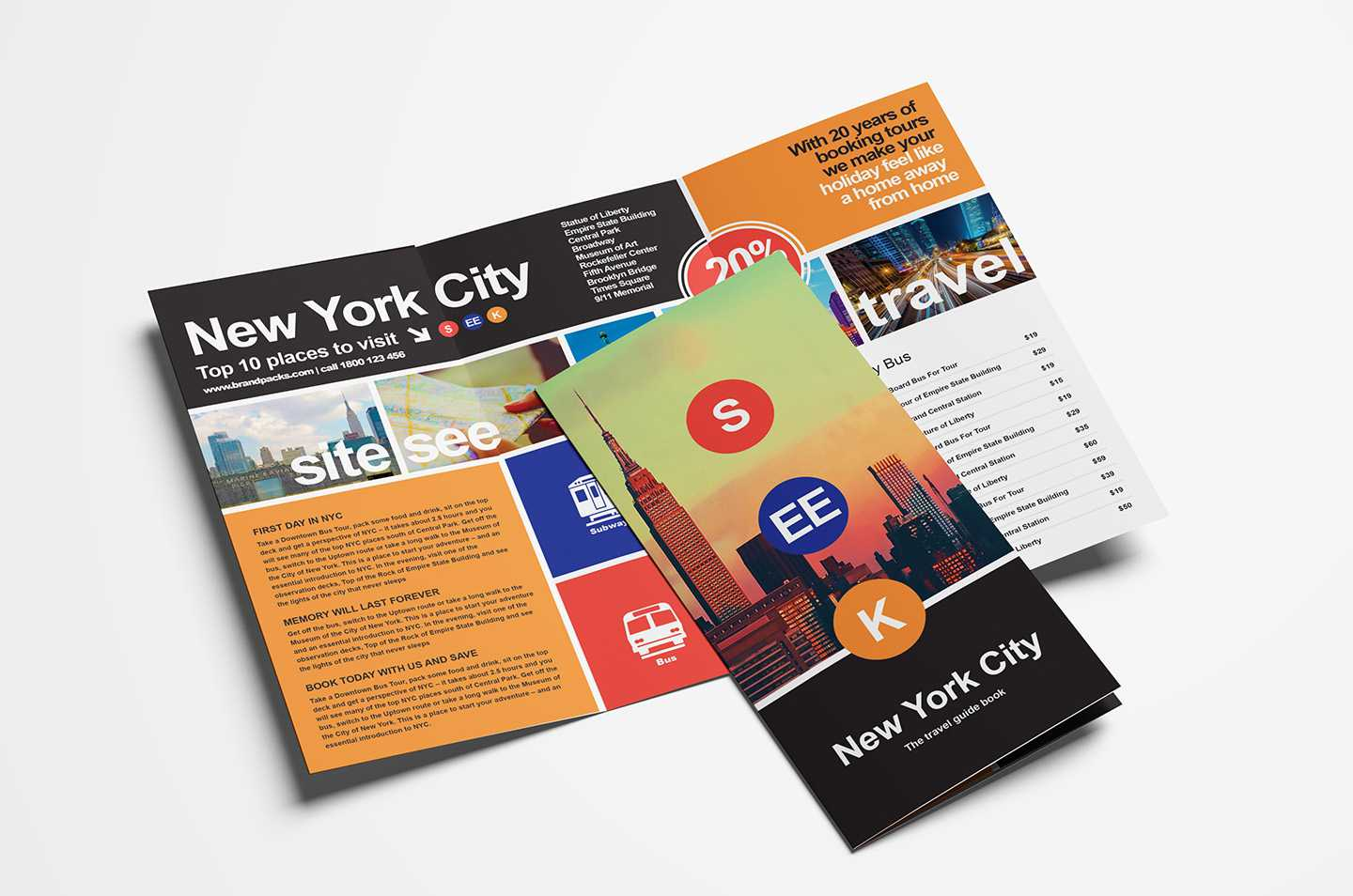 Free Travel Trifold Brochure Template For Photoshop Pertaining To Travel Guide Brochure Template