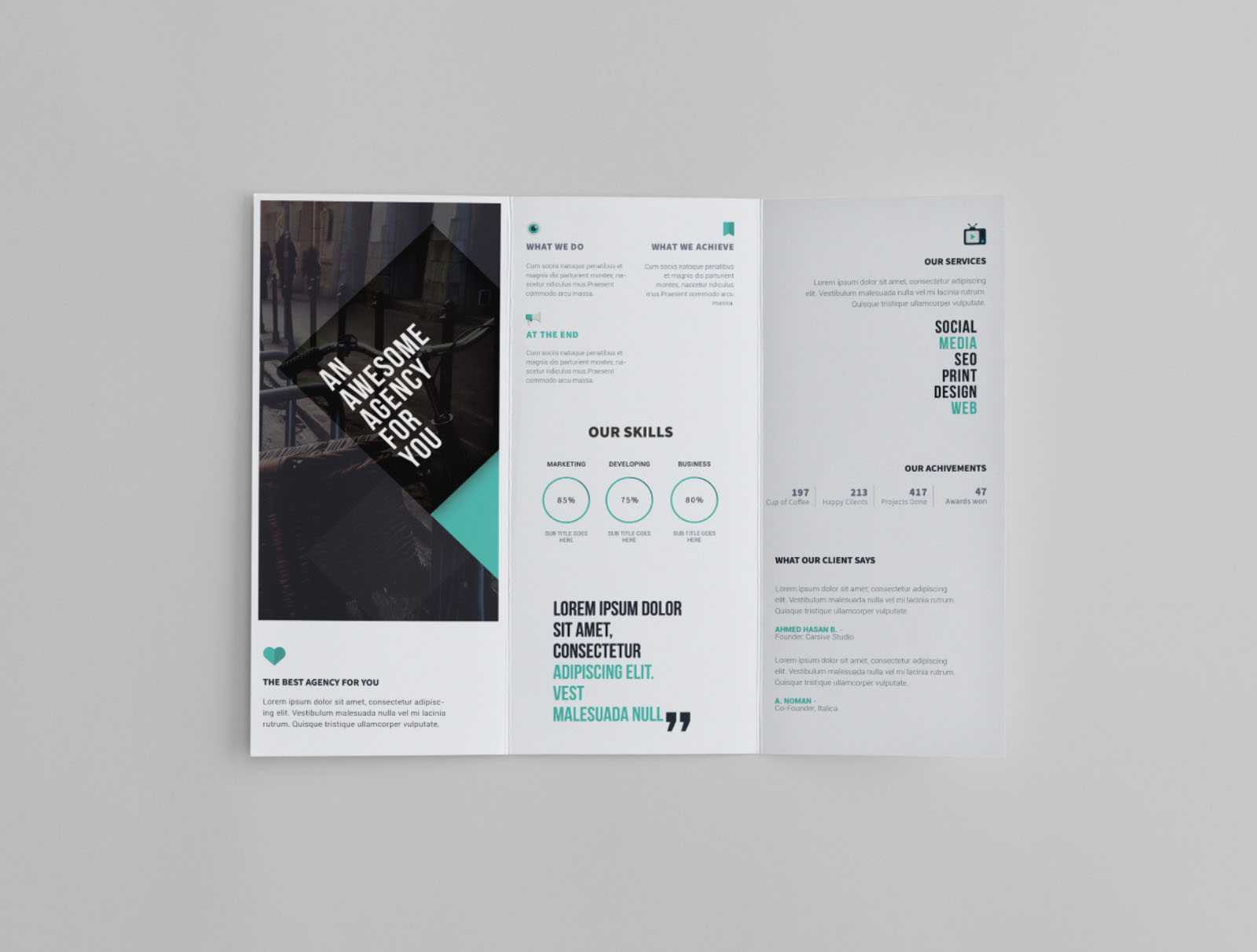 Free Trifold Brochure Template With Regard To Free Online Tri Fold Brochure Template