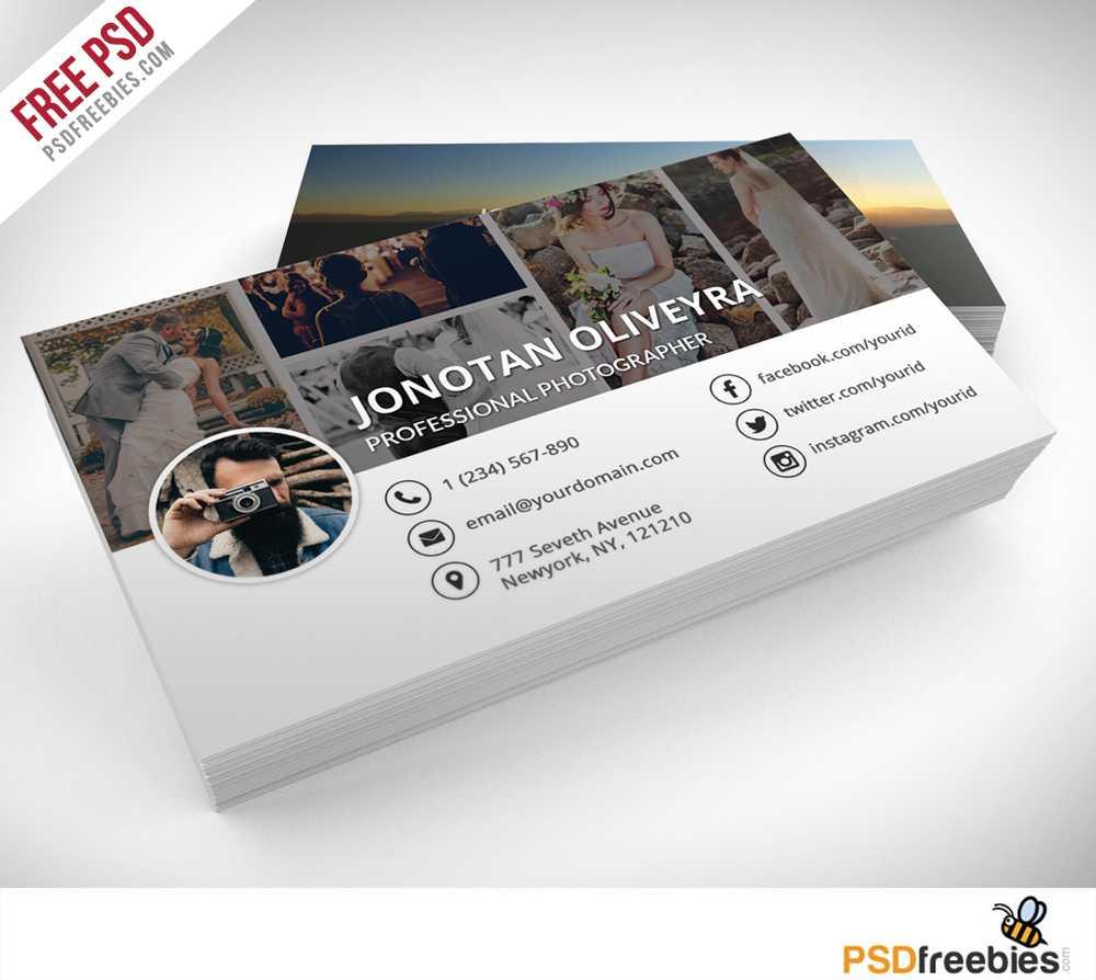 Freebie : Professional Photographer Business Card Psd On Behance Regarding Photography Business Card Template Photoshop