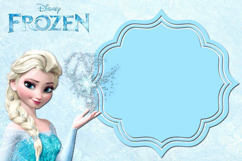 Frozen Birthday Invitations Free - Karati.ald2014 Intended For Frozen Birthday Card Template