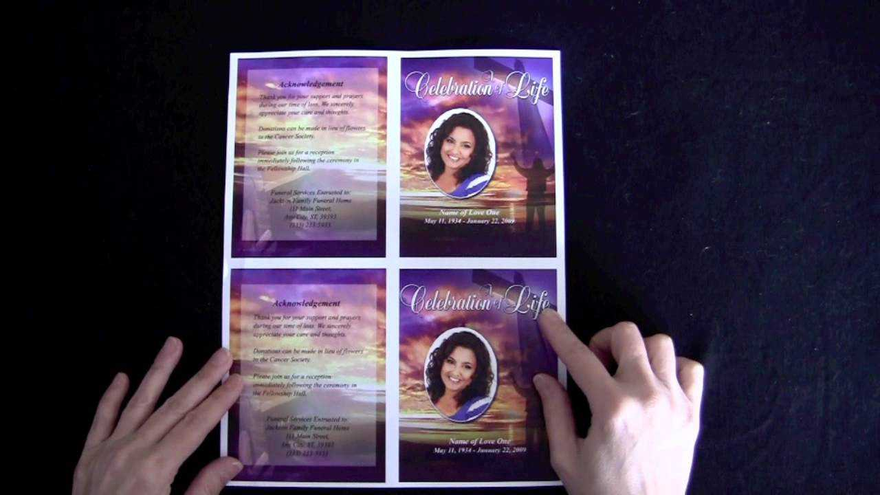 Funeral Memorial Cards - The Funeral Program Site Regarding Remembrance Cards Template Free