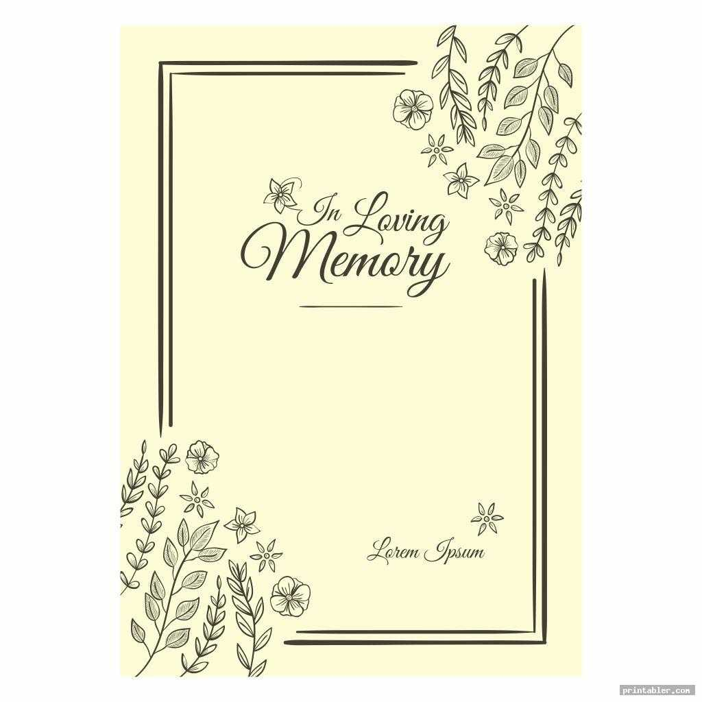 Funeral Memory Cards Templates Printable - Printabler Regarding In Memory Cards Templates